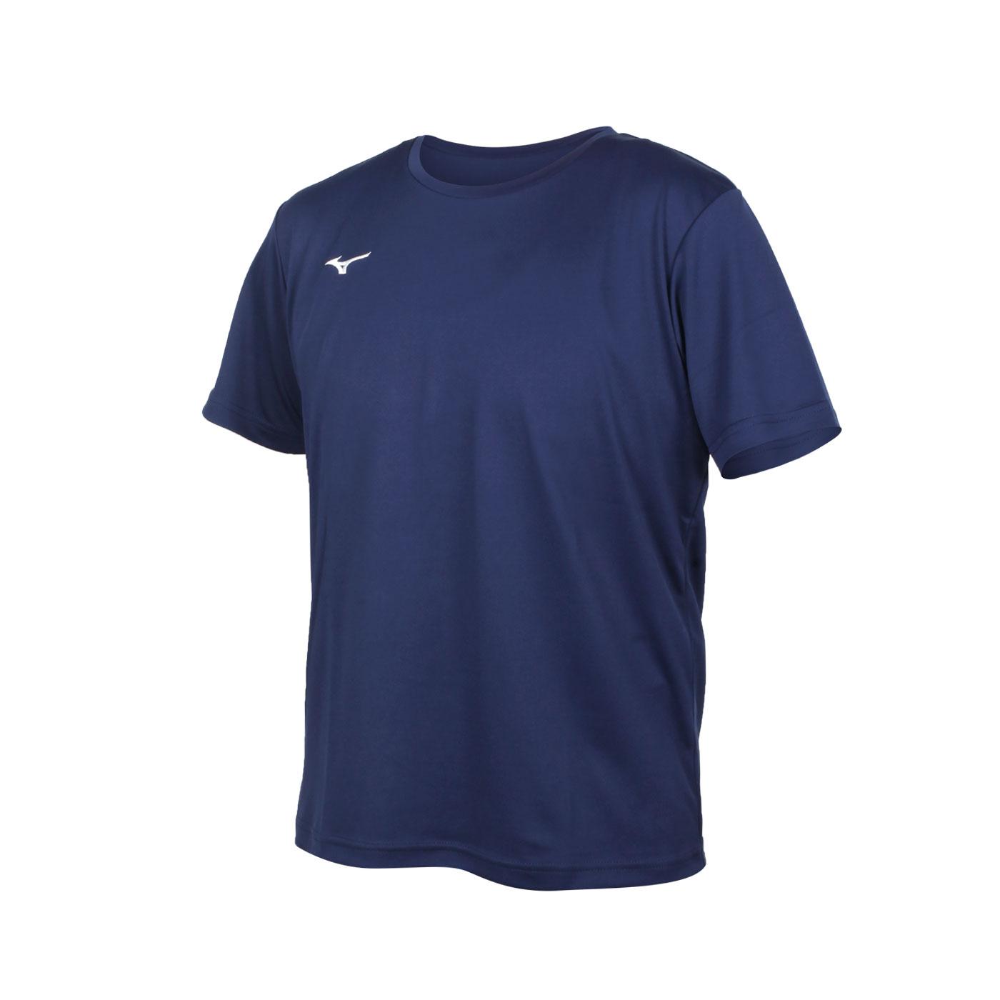 MIZUNO 男款短袖T恤 32TA150714 - 丈青白