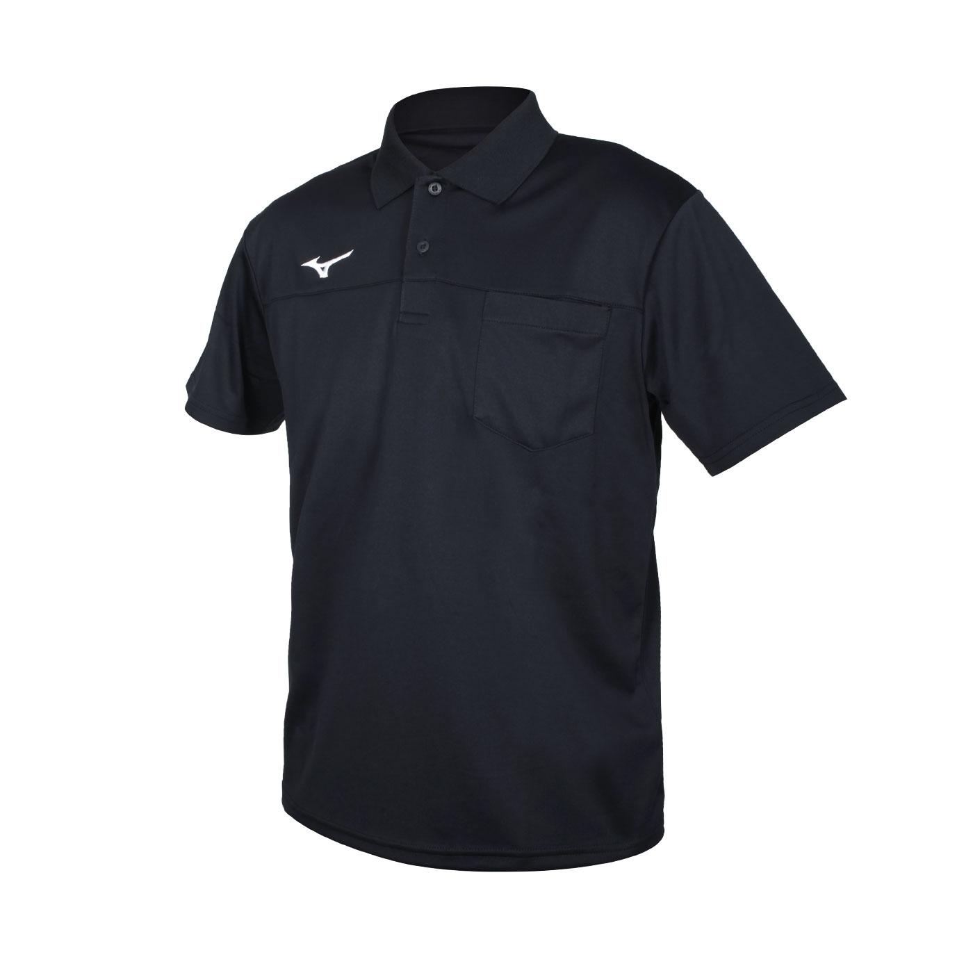 MIZUNO 男款短袖POLO衫 32TA151709 - 黑白