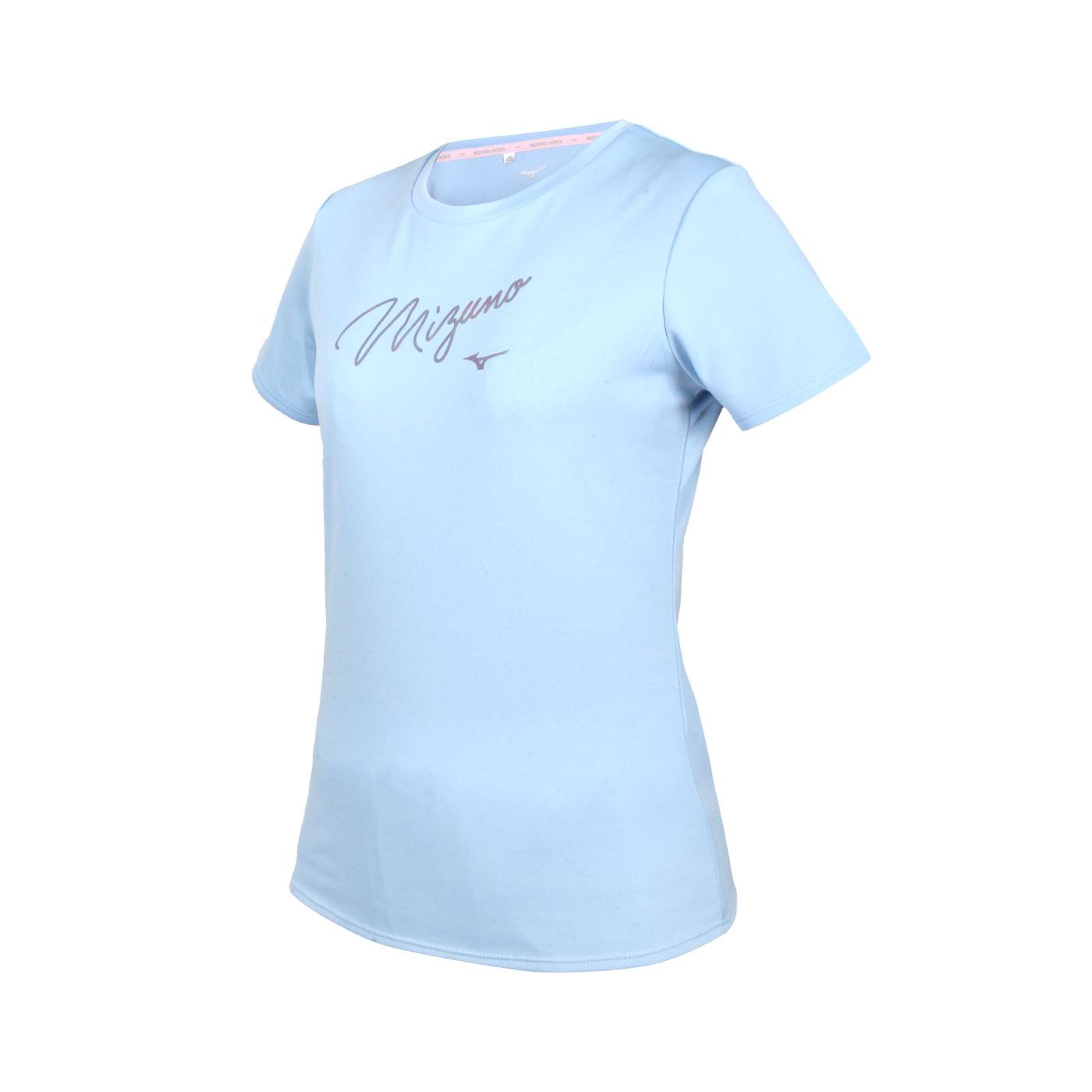 MIZUNO 女款短袖T恤 32TA170121 - 粉藍紫銀