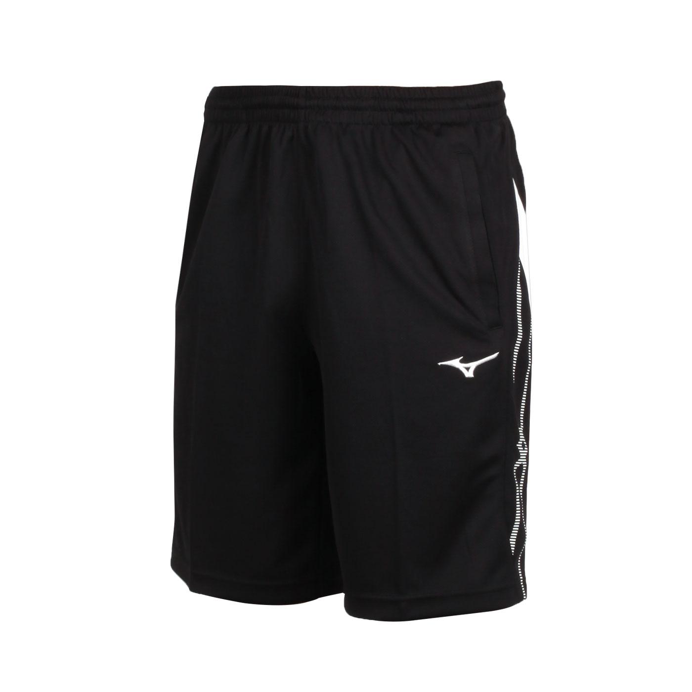 MIZUNO 男款針織短褲 32TB050214 - 黑白