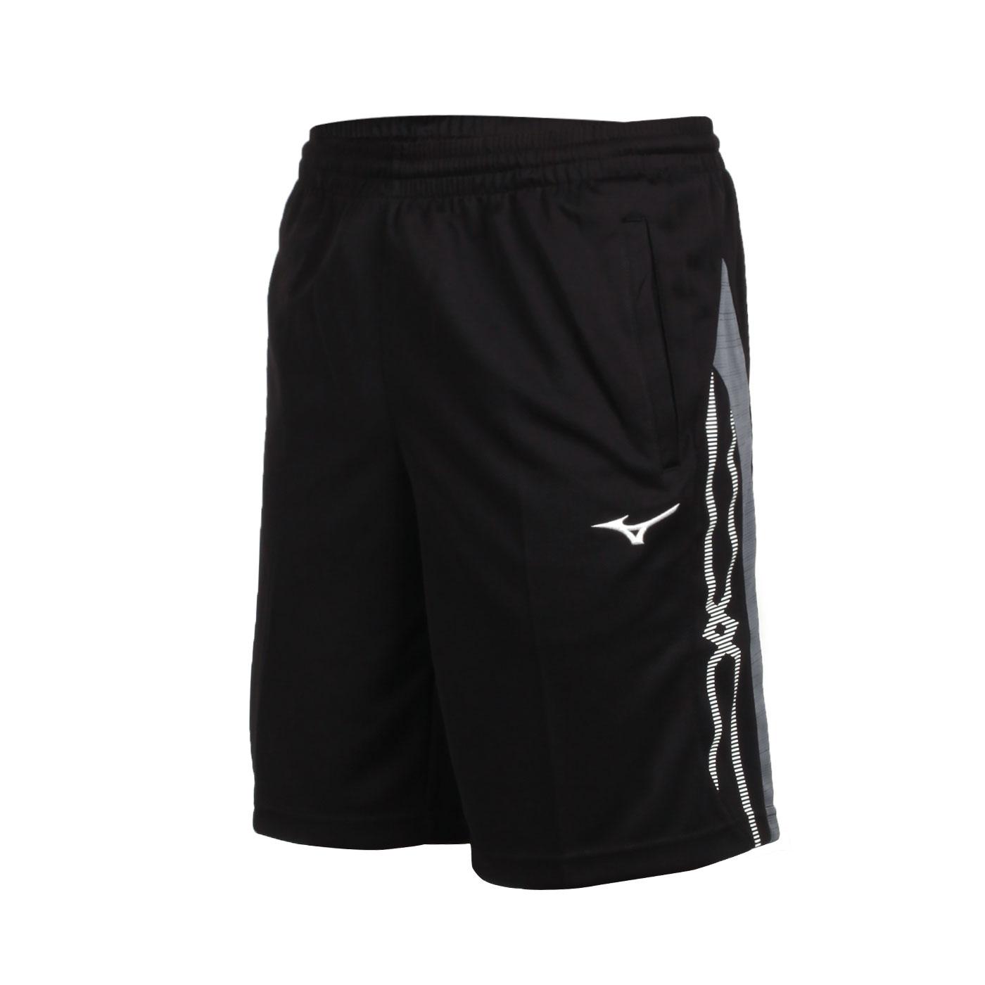 MIZUNO 男款針織短褲 32TB050214 - 黑灰白