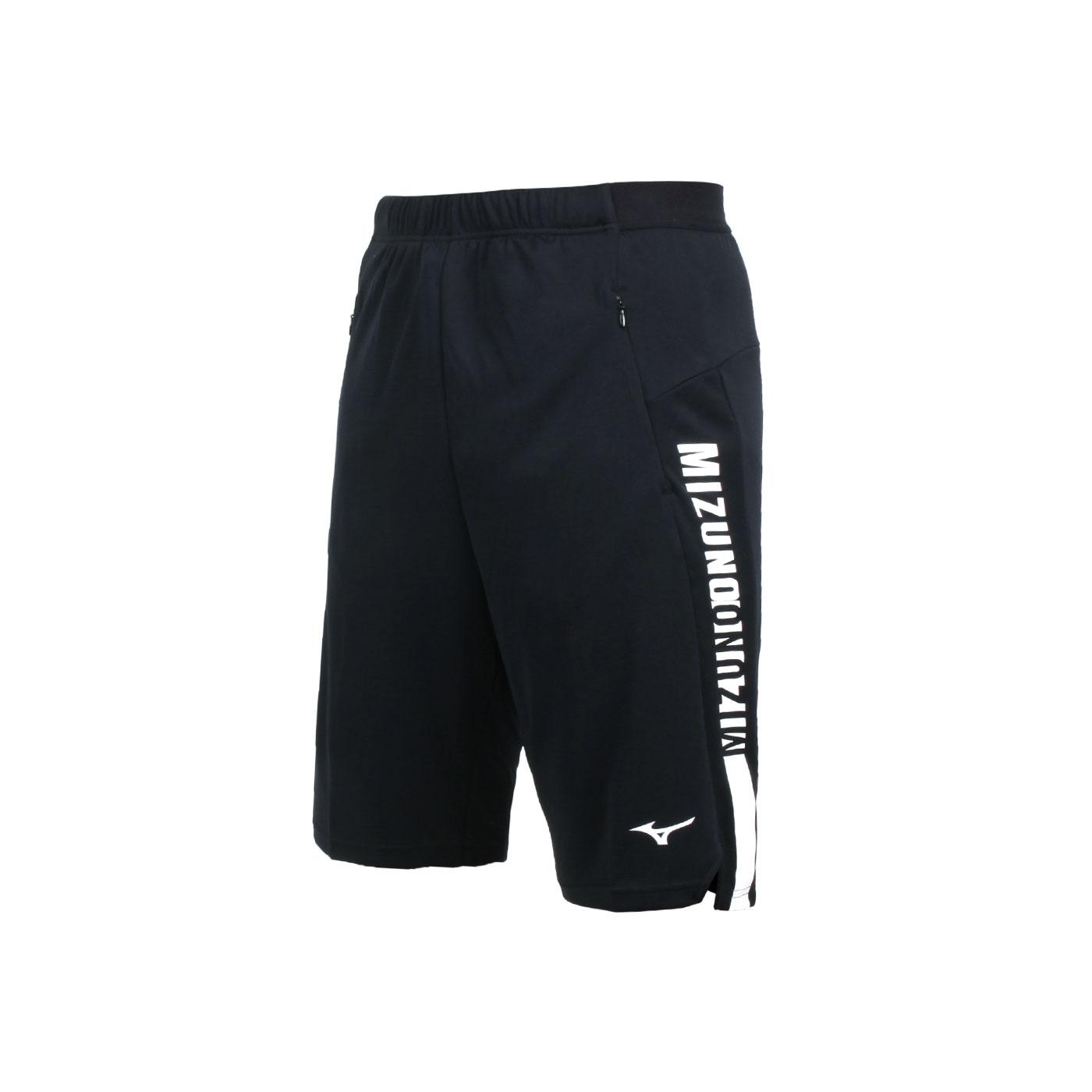 MIZUNO 男款針織短褲 32TB100190 - 黑白