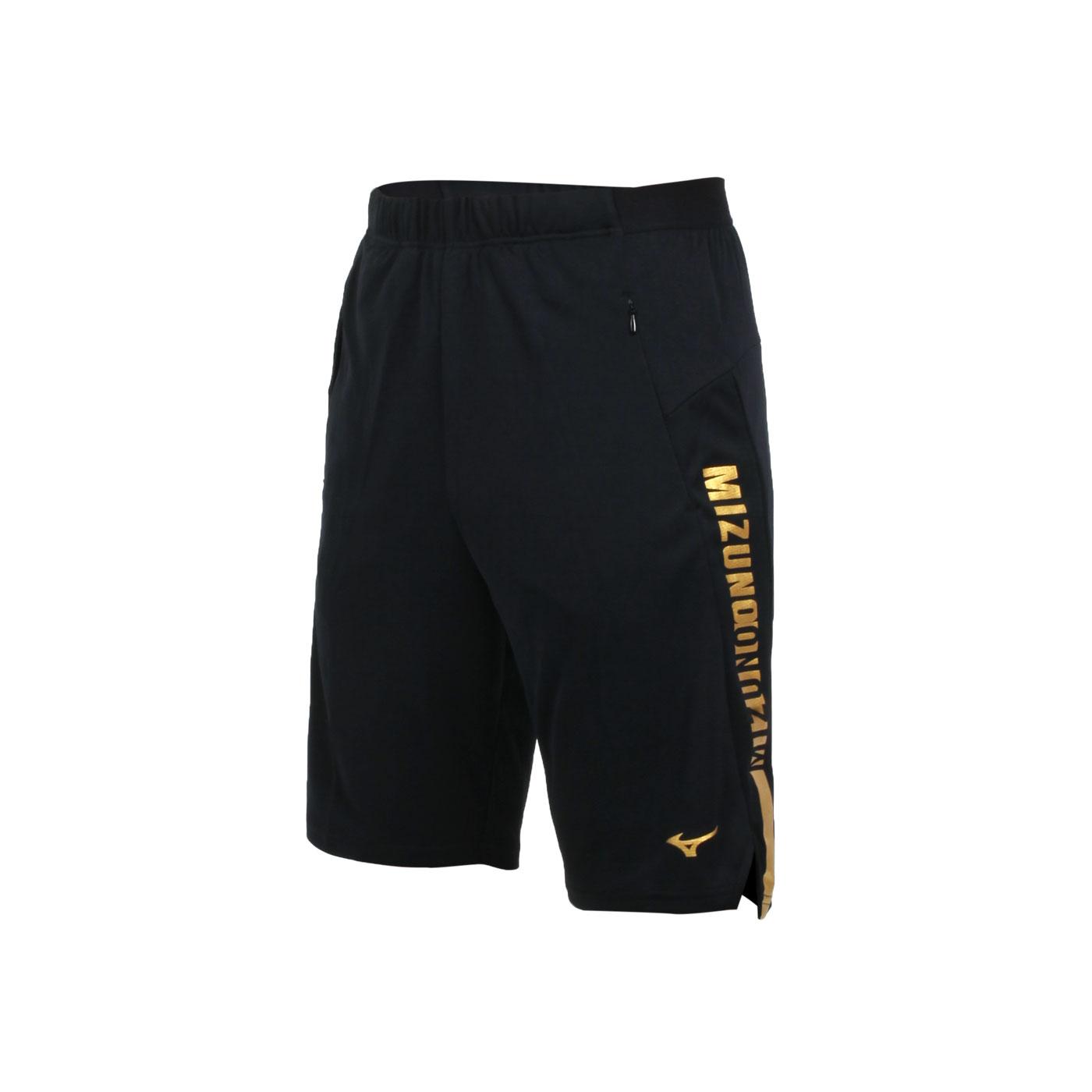 MIZUNO 男款針織短褲 32TB100194 - 黑金