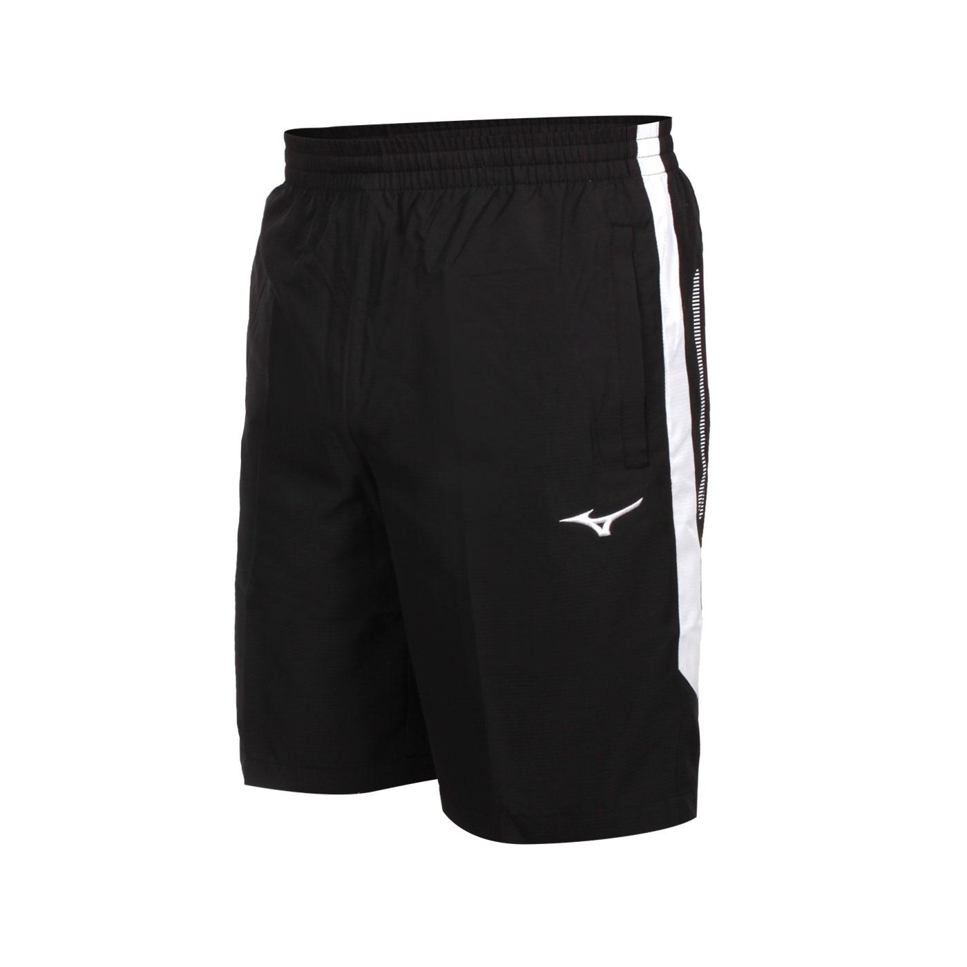 MIZUNO 男款平織運動短褲 32TB105290 - 黑白