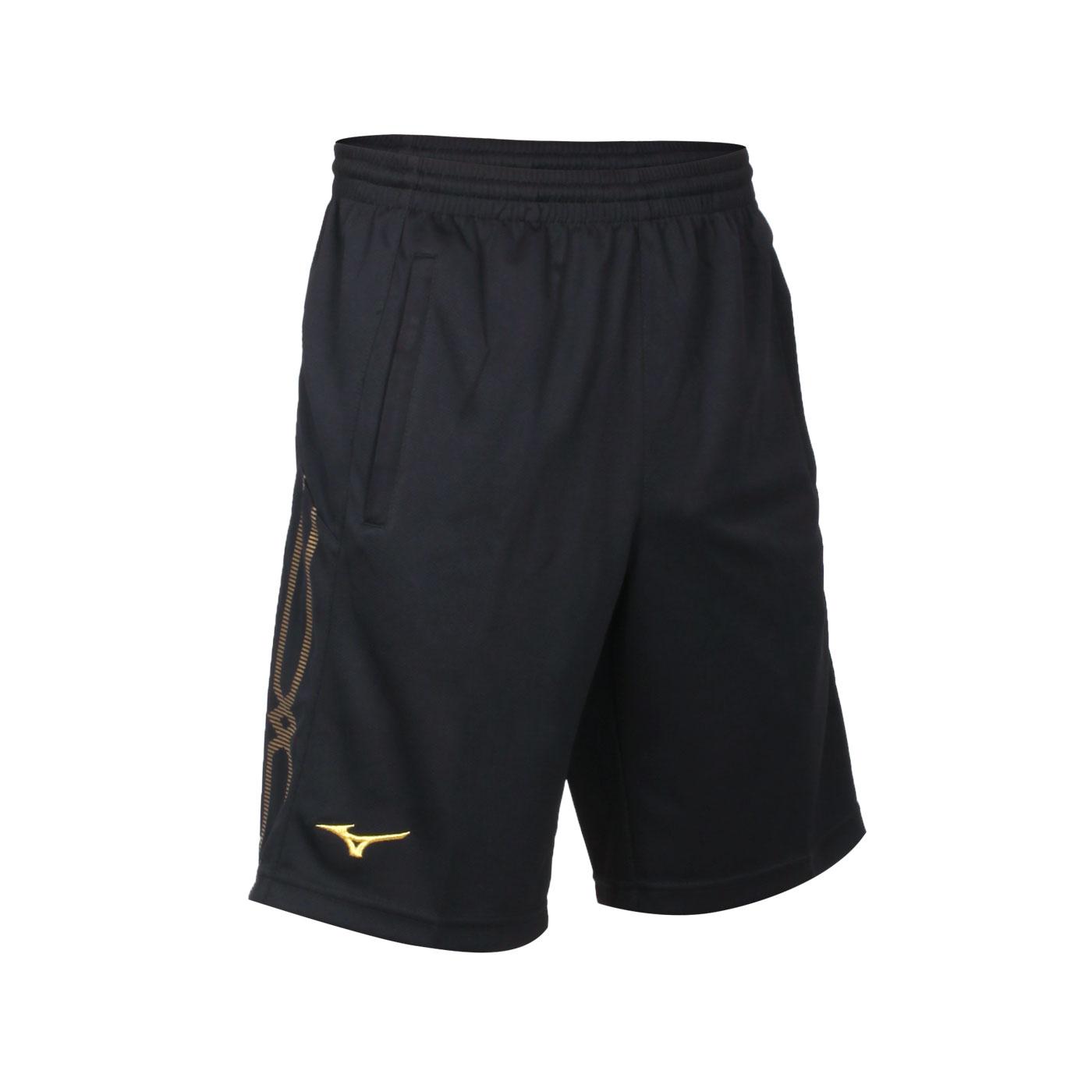 MIZUNO 男款針織短褲 32TB153294 - 黑金