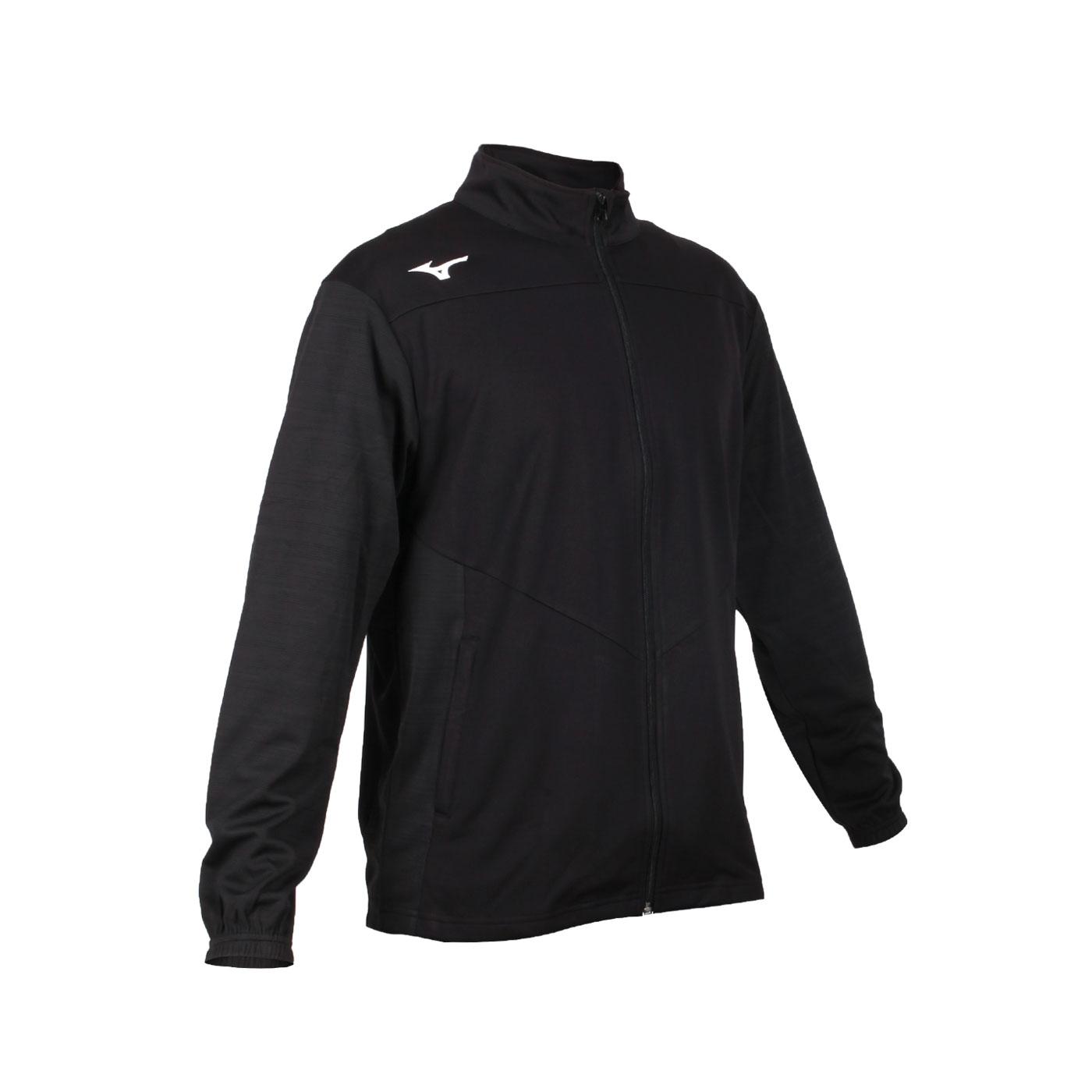 MIZUNO 男款針織運動外套 32TC053399 - 黑深灰白