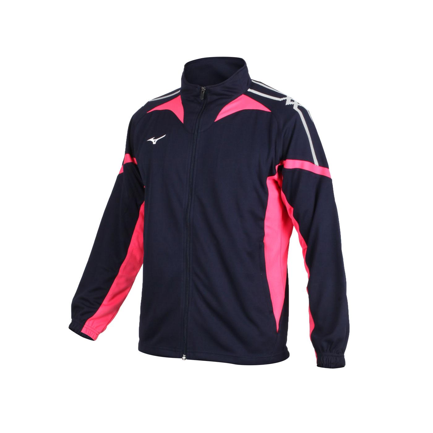 MIZUNO 男款針織運動外套 32TC053514 - 丈青玫紅白