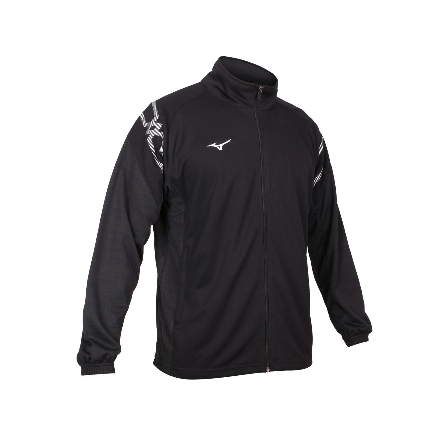 MIZUNO 男款針織運動外套 32TC103209 - 黑白