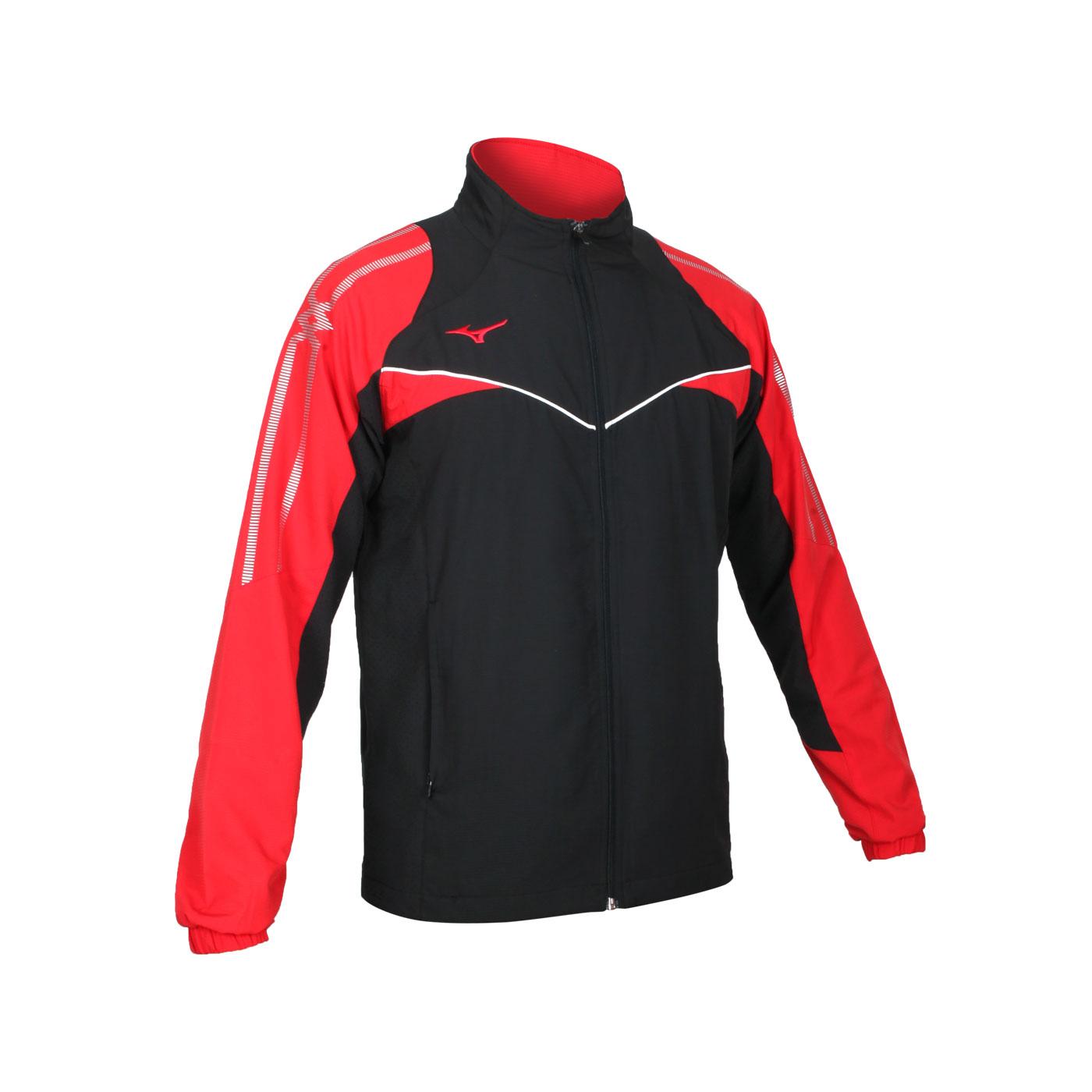 MIZUNO 男款平織外套 32TC108496 - 黑紅白