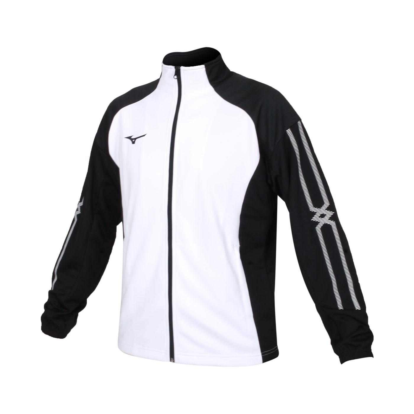 MIZUNO 男款針織外套 32TC153301 - 白黑