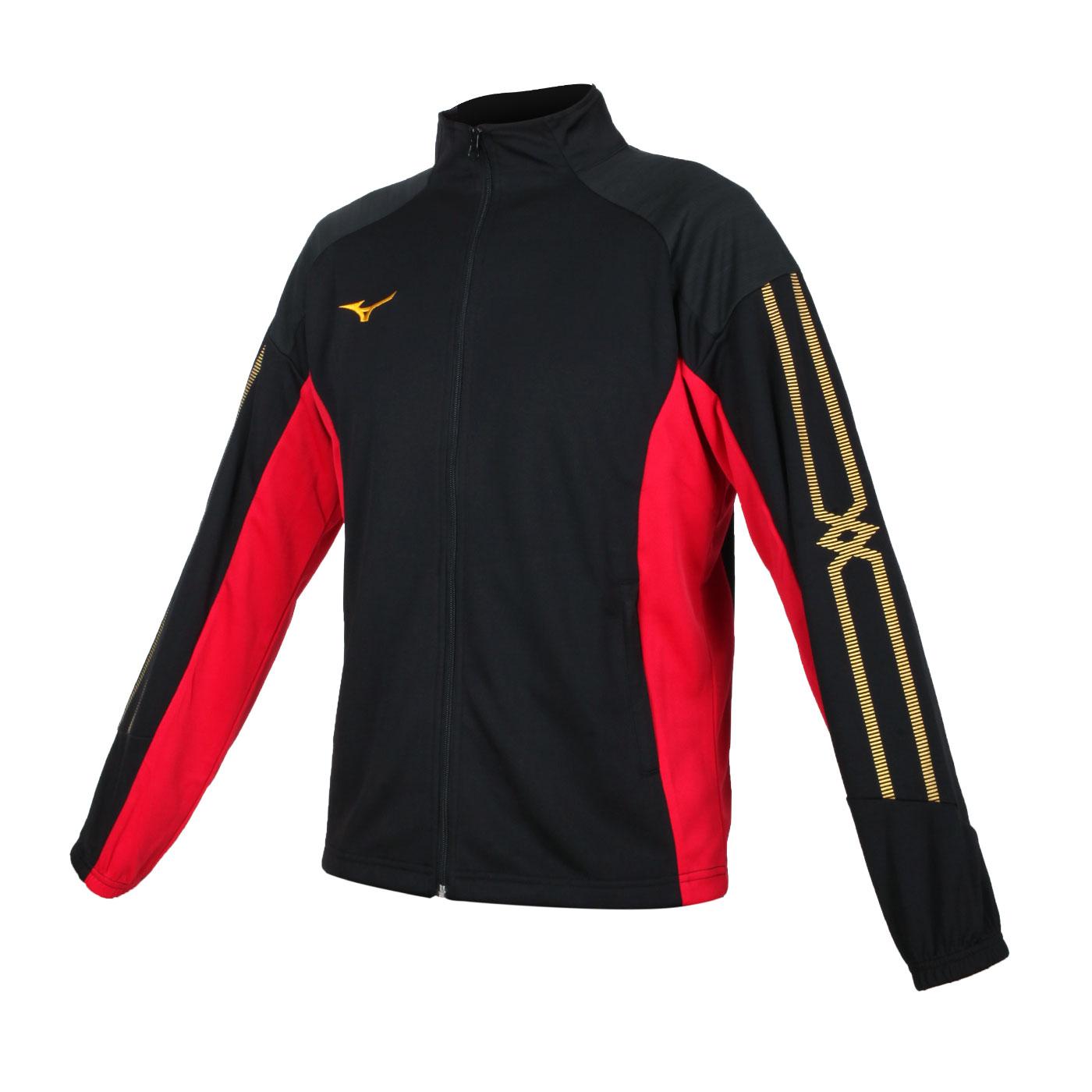 MIZUNO 男款針織外套 32TC153309 - 黑黃