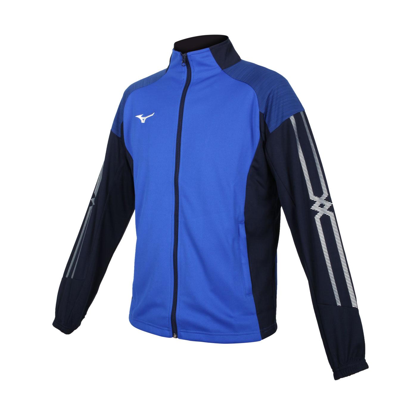 MIZUNO 男款針織外套 32TC153322 - 藍丈青白