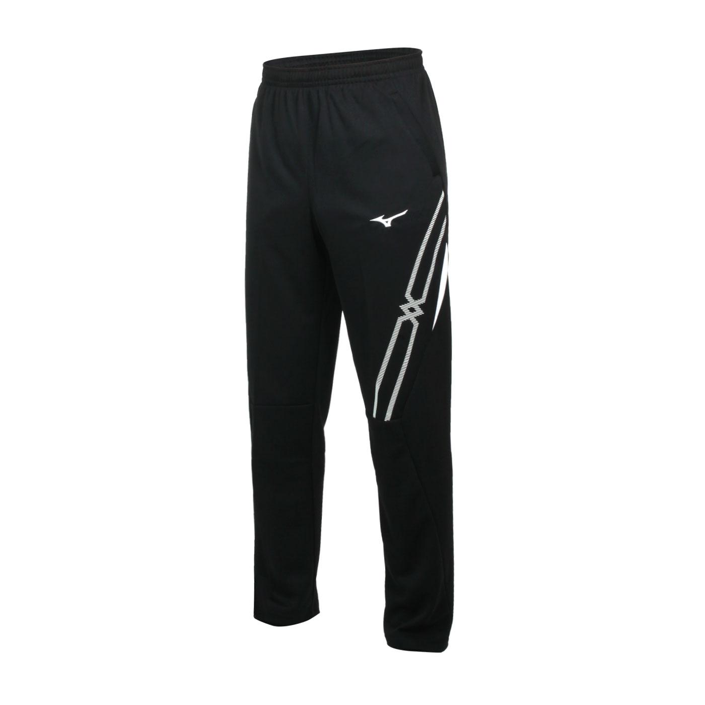 MIZUNO 男款針織長褲 32TD103390 - 黑白