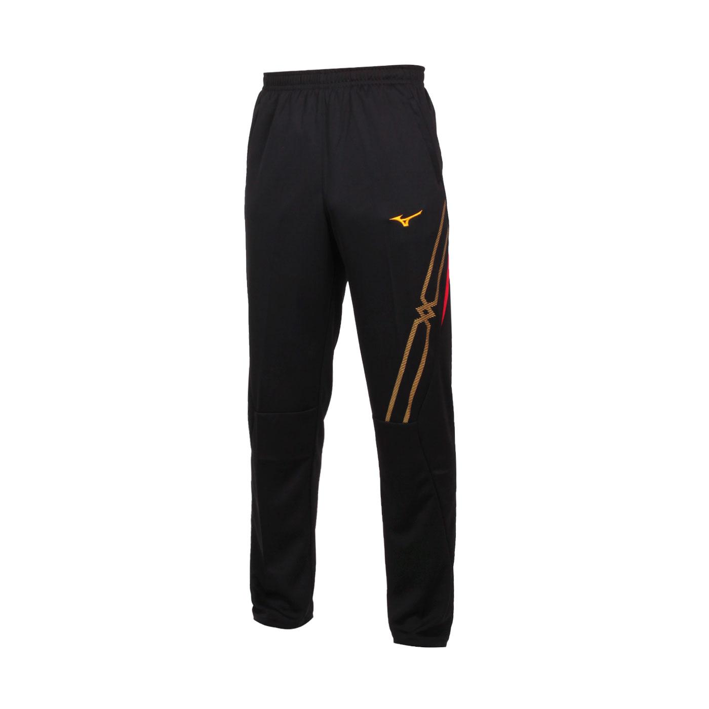 MIZUNO 男款針織長褲 32TD103396 - 黑金紅