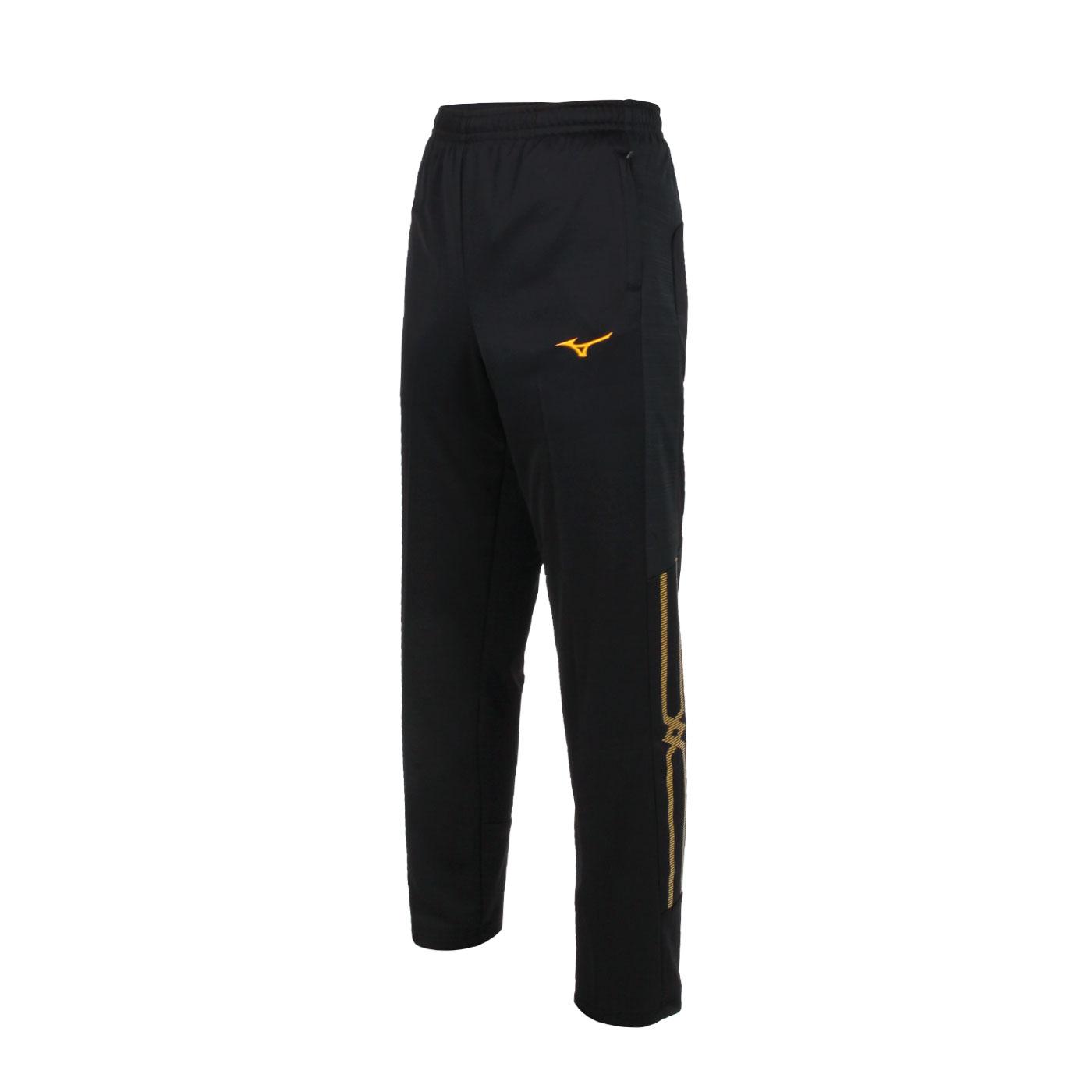 MIZUNO 男款針織長褲 32TD153399 - 黑黃