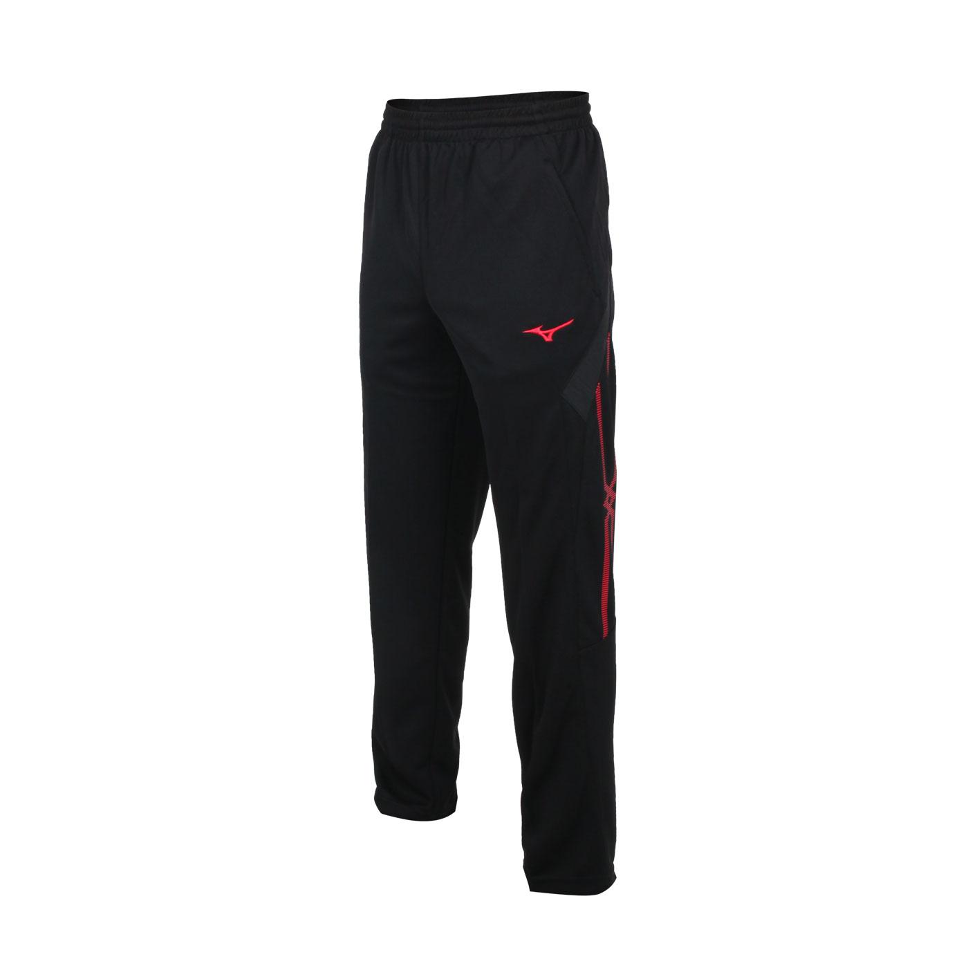 MIZUNO 男款針織長褲 32TD153499 - 黑紅