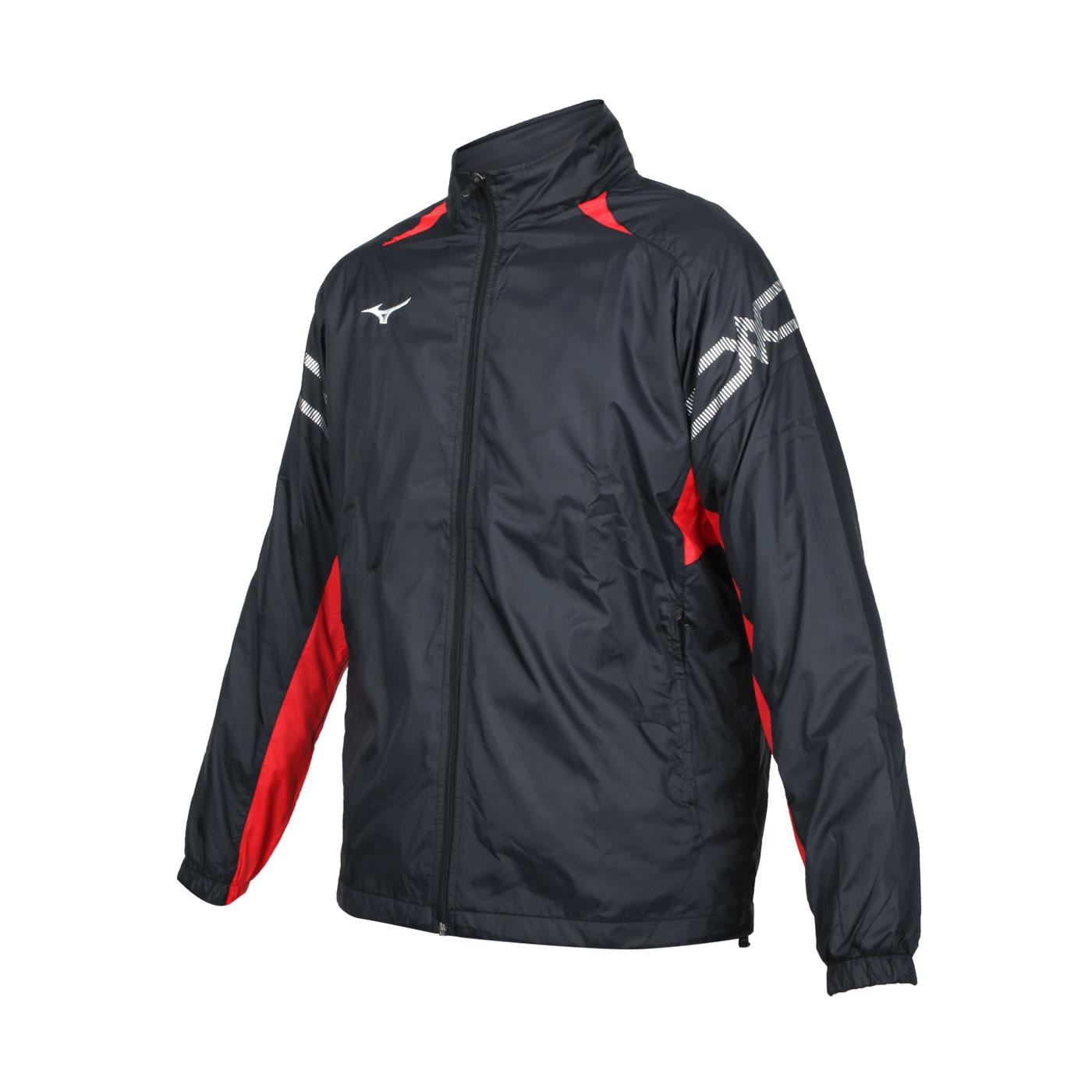 MIZUNO 男款風衣外套 32TE158396 - 黑紅