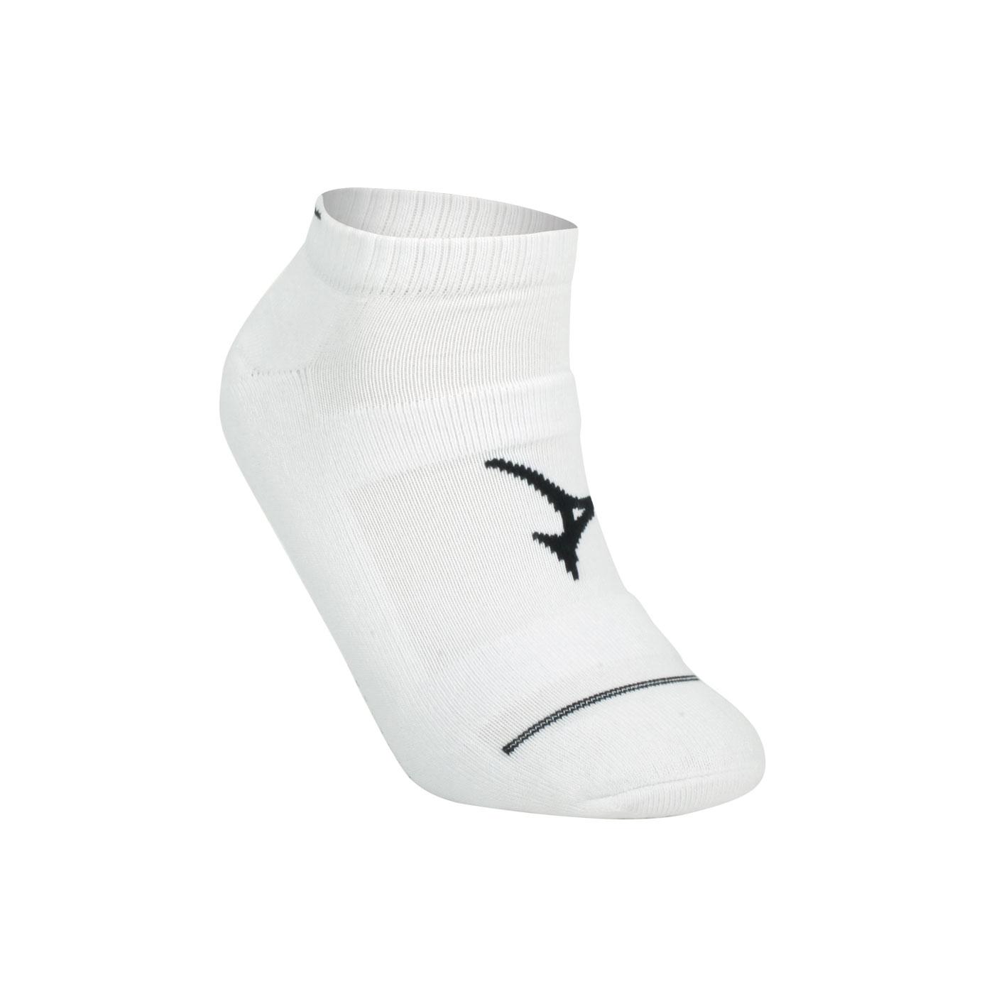MIZUNO 男運動厚底踝襪 32TX800509 - 白黑