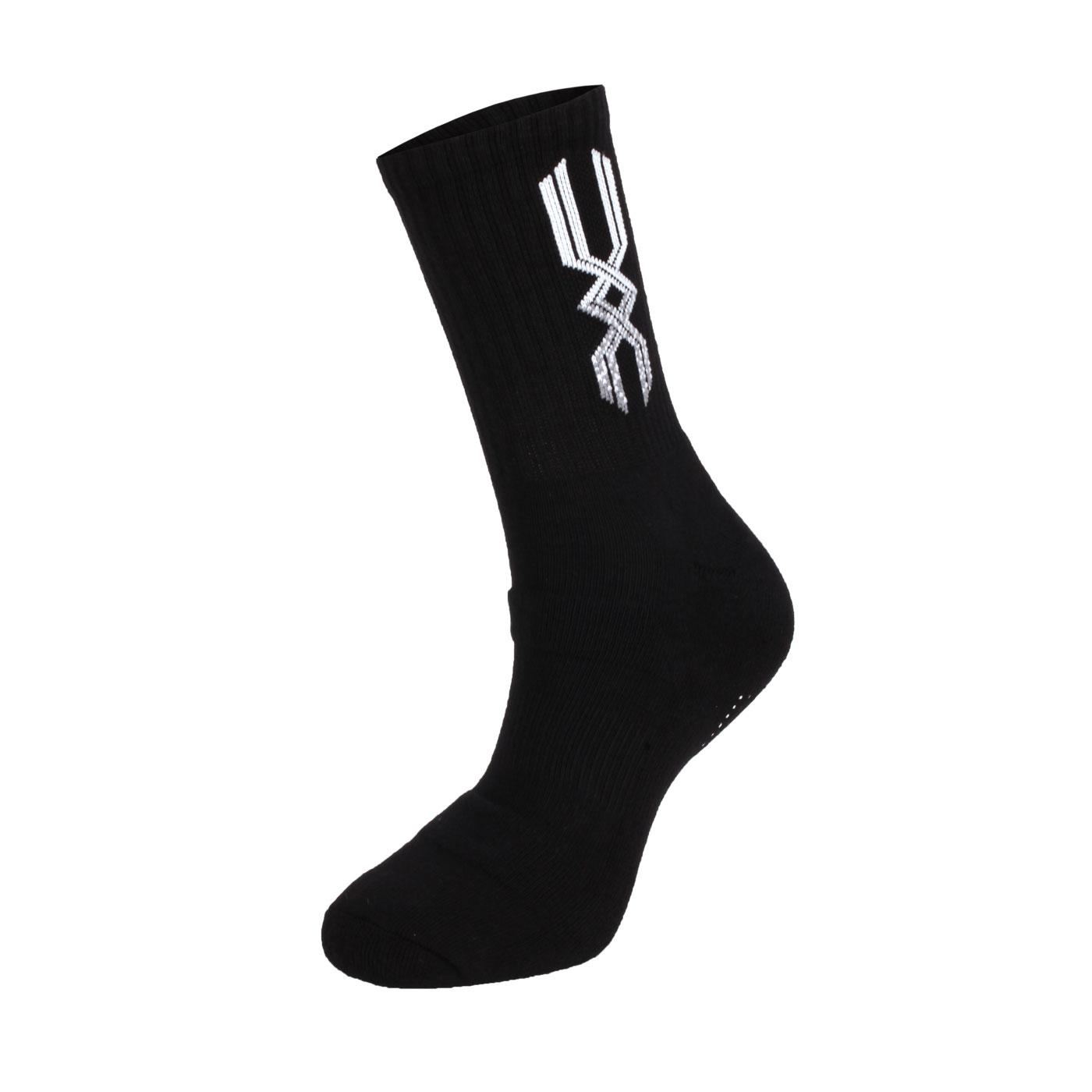 MIZUNO 男運動厚底襪(加大) 32TX800945 - 黑白