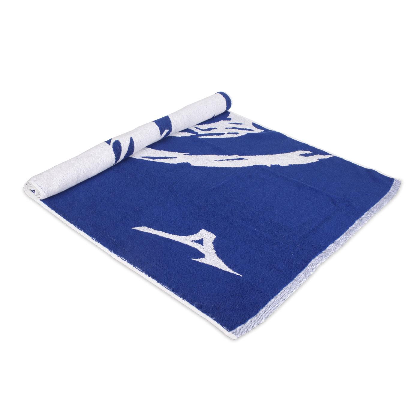 MIZUNO 緹花運動大浴巾 32TY050327 - 藍白