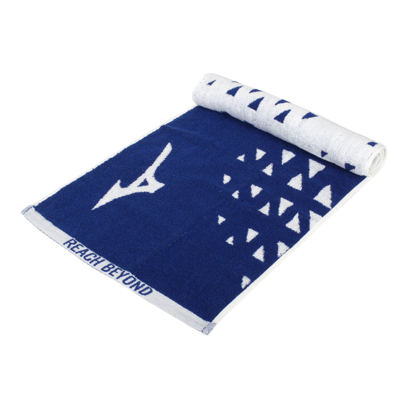 MIZUNO 運動毛巾 32TY110127 - 深藍白