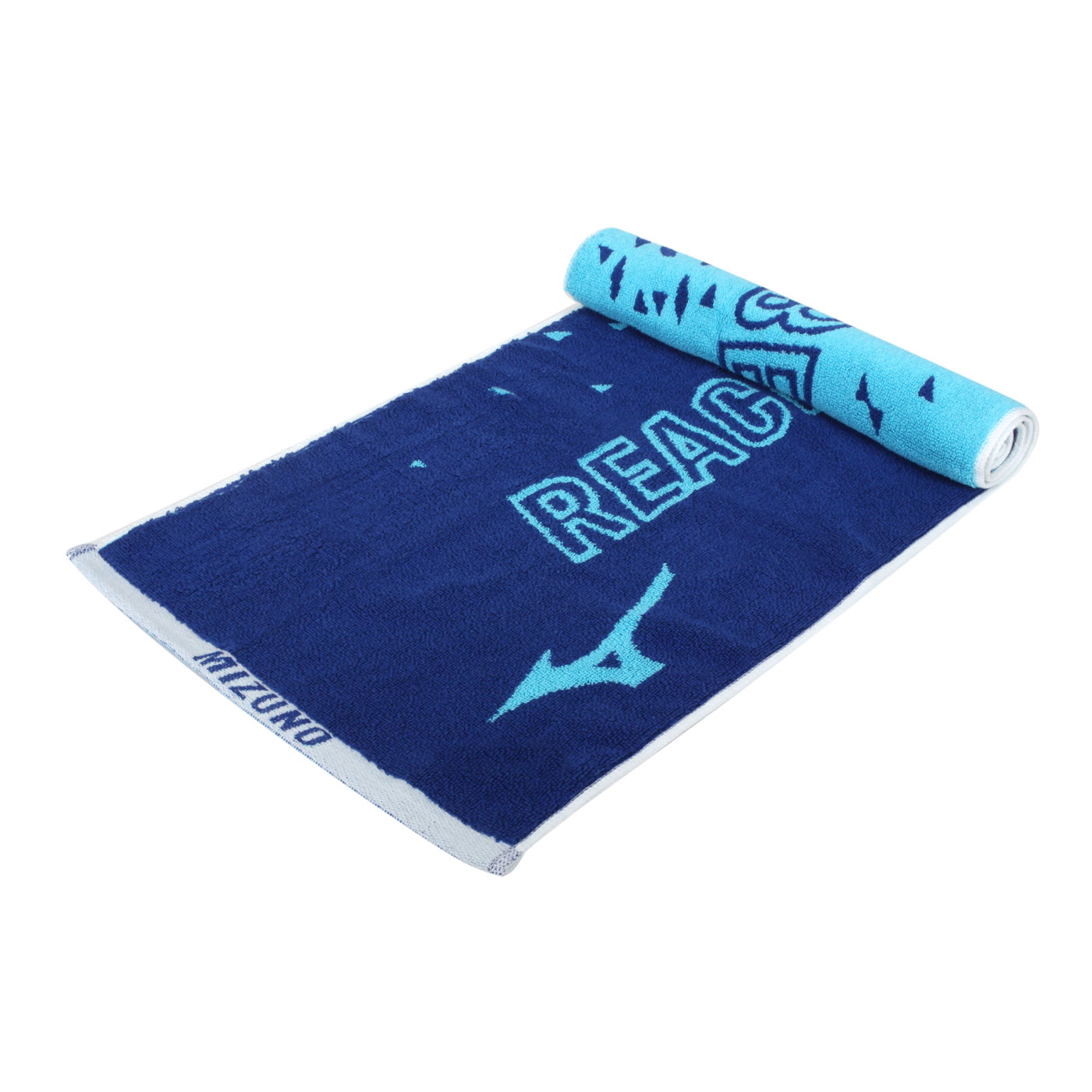 MIZUNO 提花運動毛巾 32TY150427 - 深藍水藍