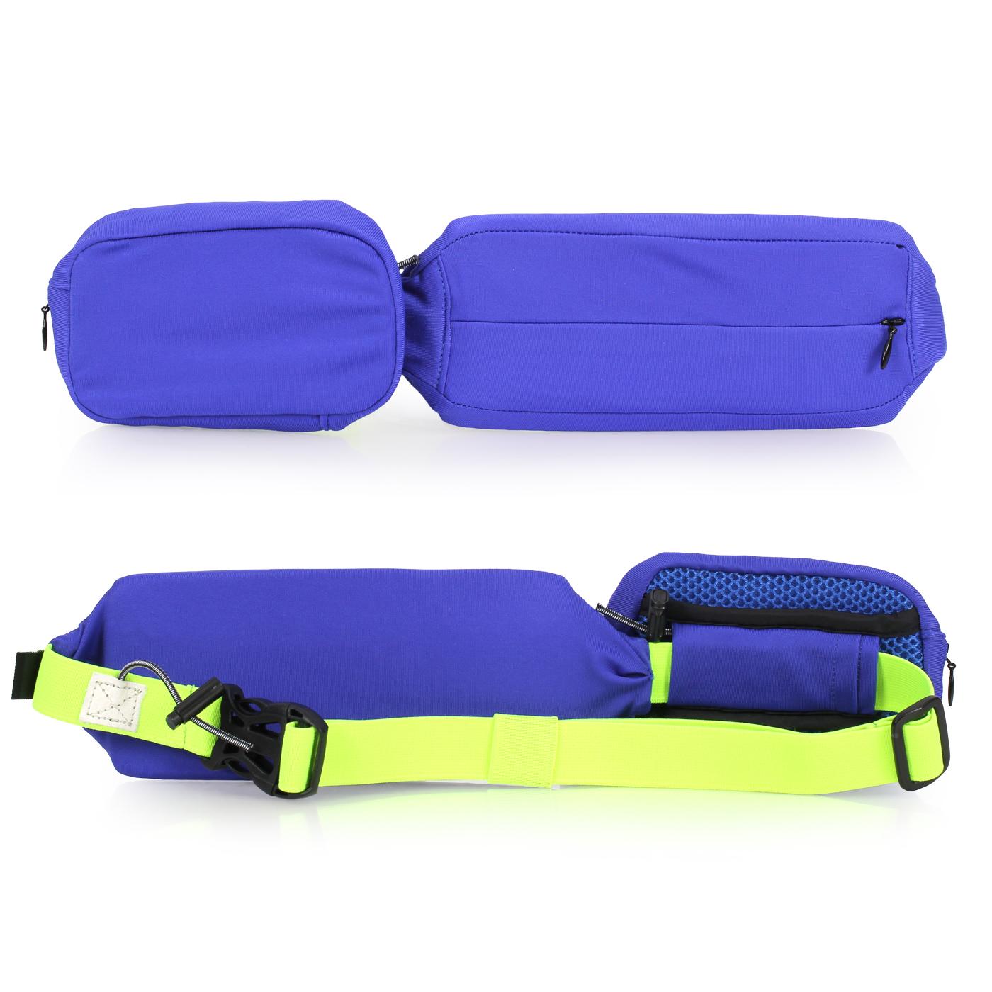 MIZUNO 腰包2pcs 33TM730809 - 藍螢光黃