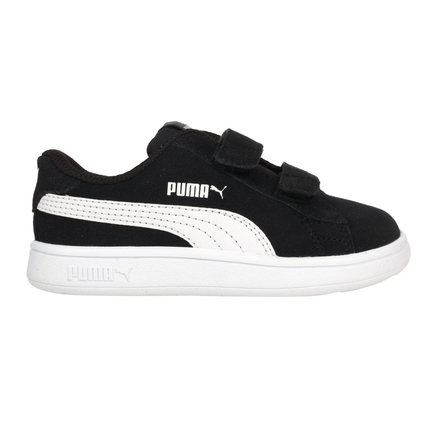 PUMA 小童休閒運動鞋  @Smash v2 SD V Inf@36517801 - 黑白