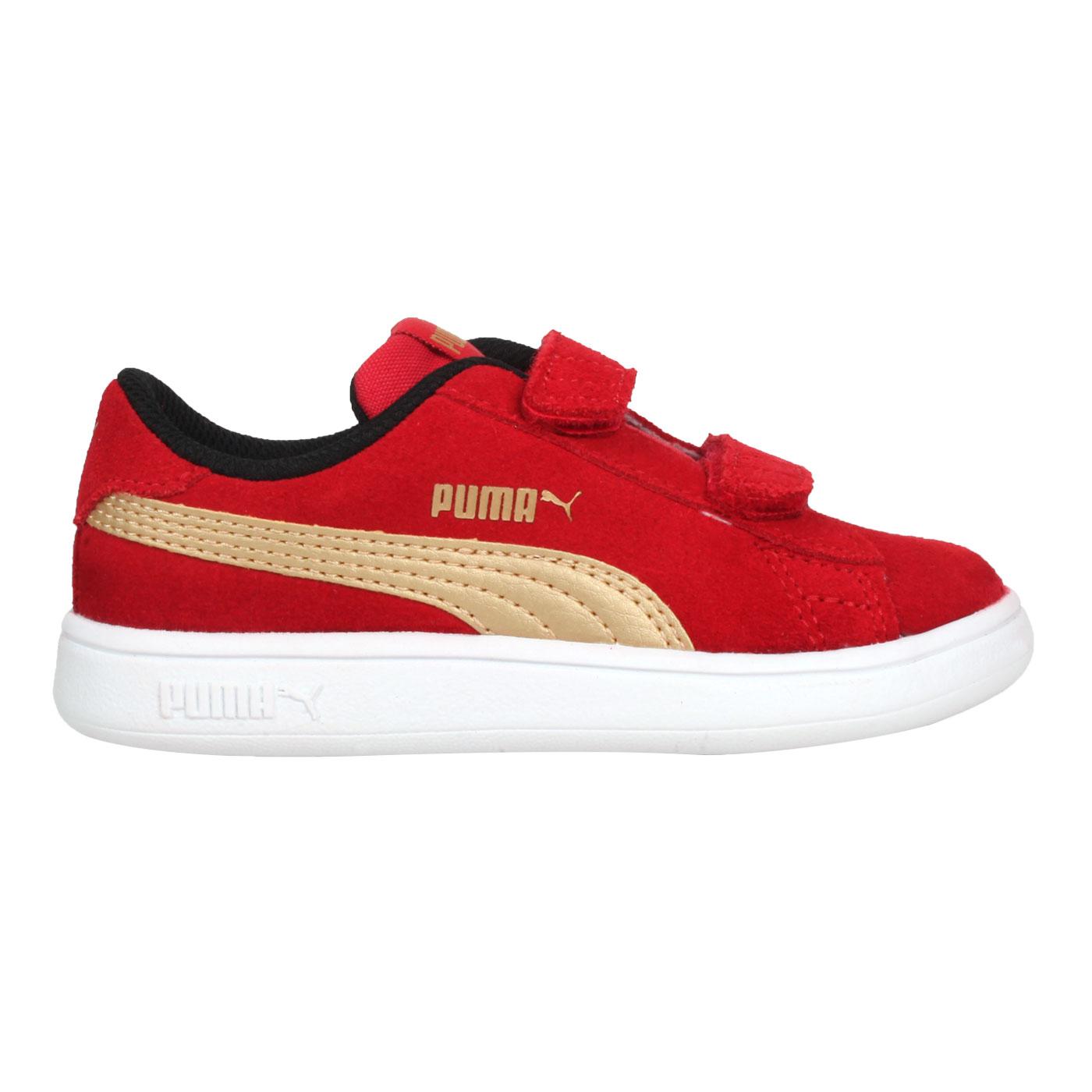 PUMA 小童休閒運動鞋  @Smash v2 SD V Inf@36517828 - 紅金
