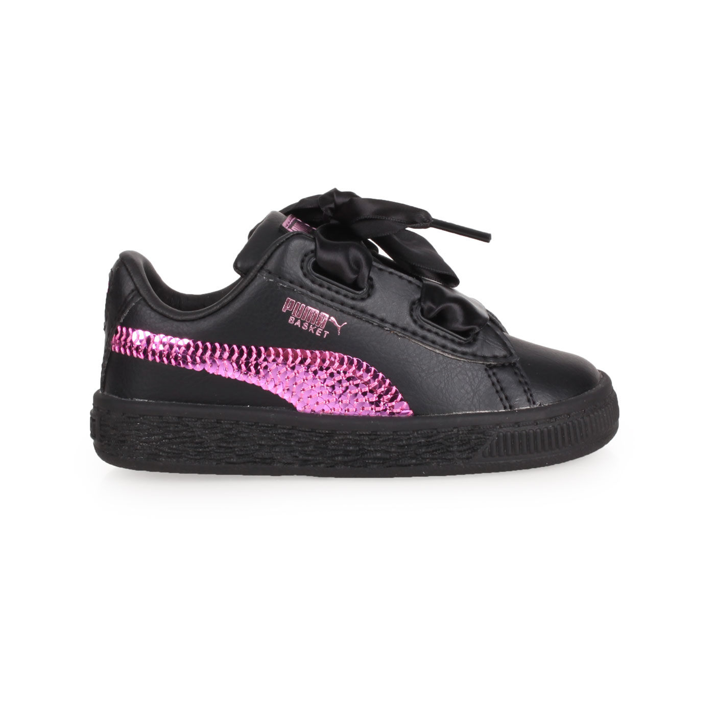 PUMA 兒童休閒運動鞋  @Basket Heart Bling Inf@36684901 - 黑紫