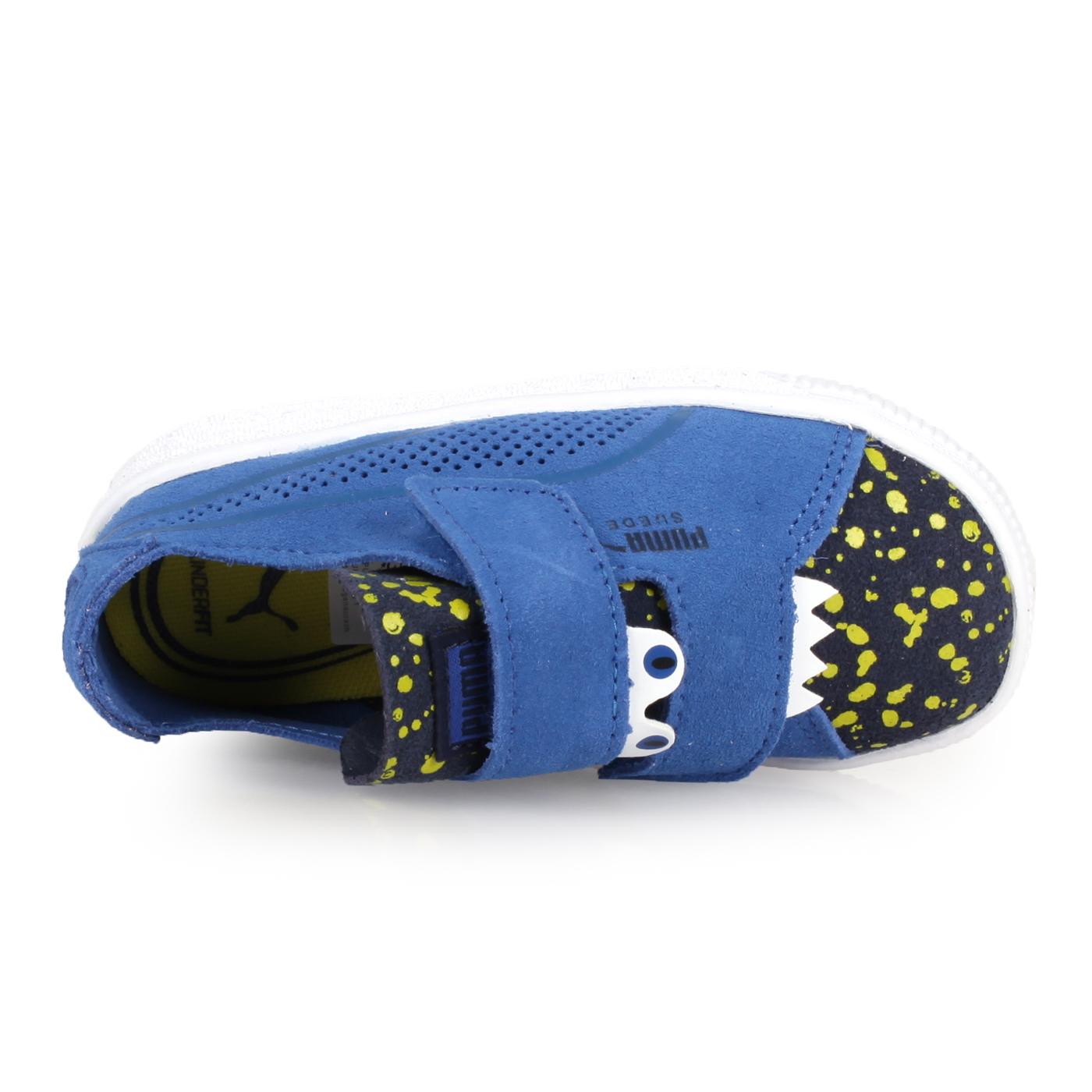 PUMA 兒童怪獸休閒鞋  @Suede Deconstr.Monster V lnf@36909301 - 藍白黃