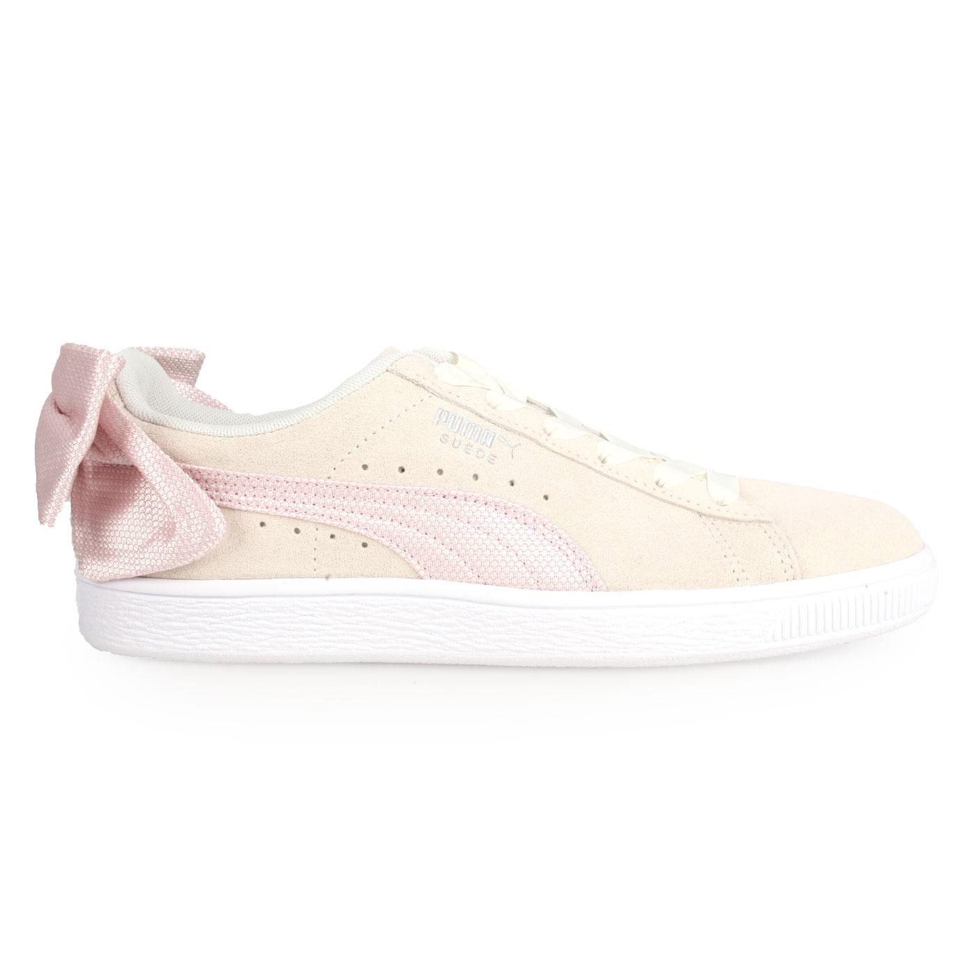 PUMA 女款休閒運動鞋(蝴蝶結款)  @Suede Bow Hexamesh Wn's@36915102 - 淺卡其粉