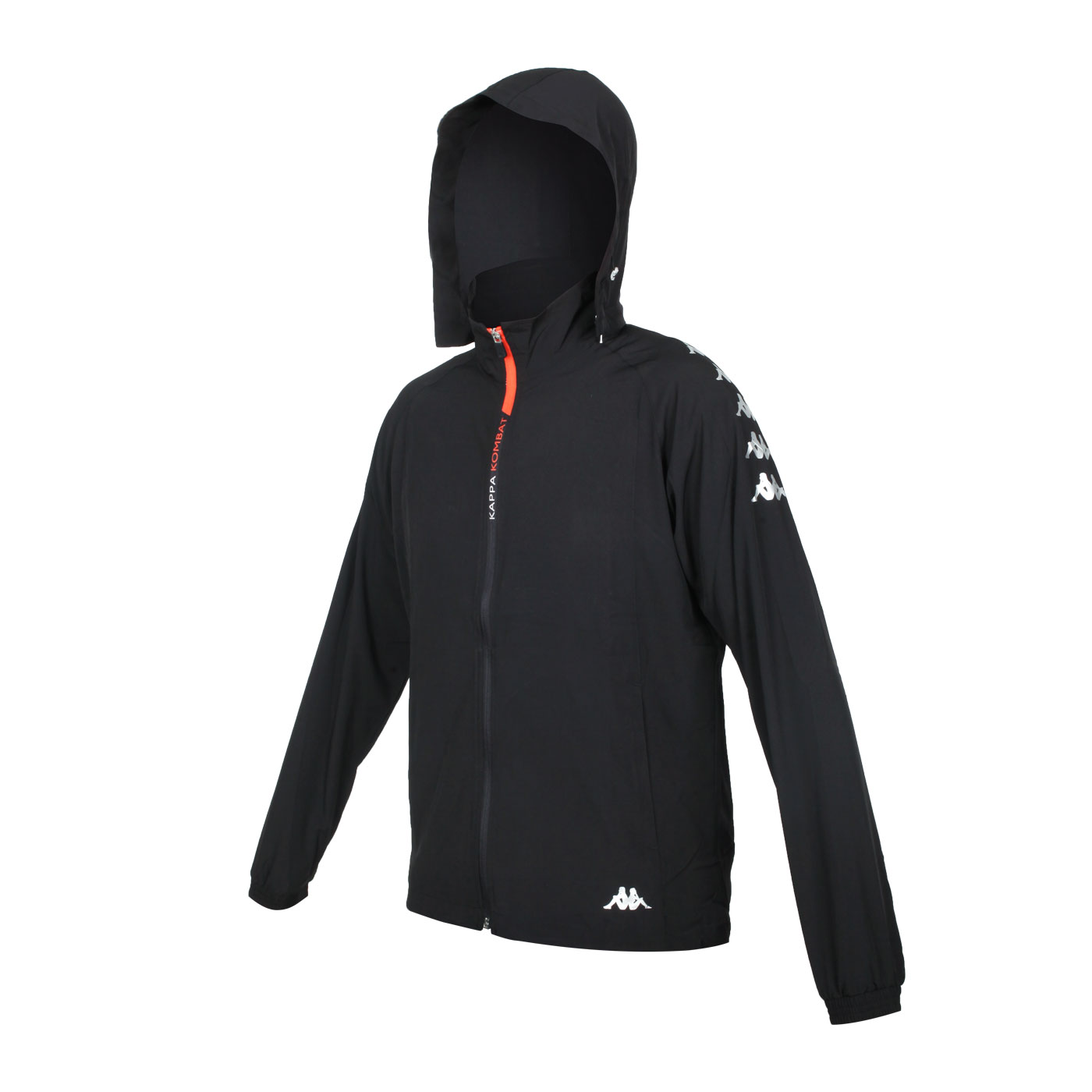 KAPPA 男款K4T單層風衣 37168MW-005 - 黑白橘