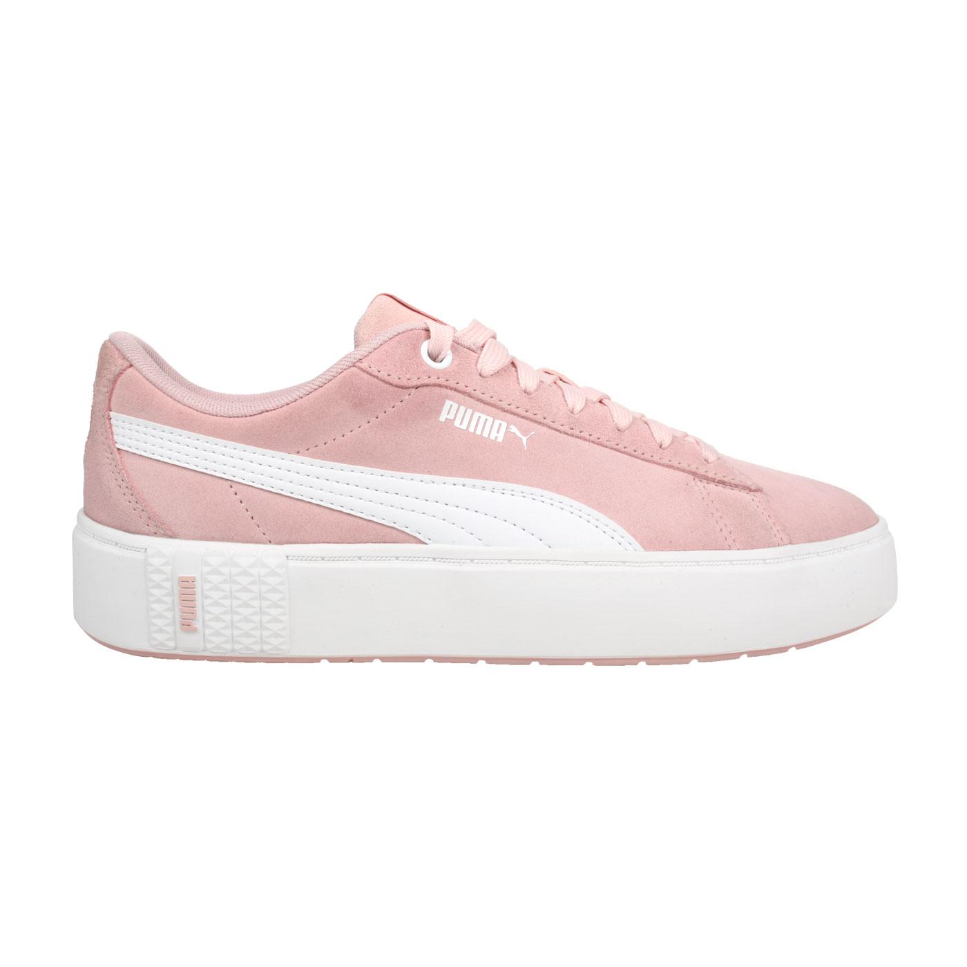 PUMA 女款休閒運動鞋  @Smash Platform v2 SD@37303704 - 粉紅白