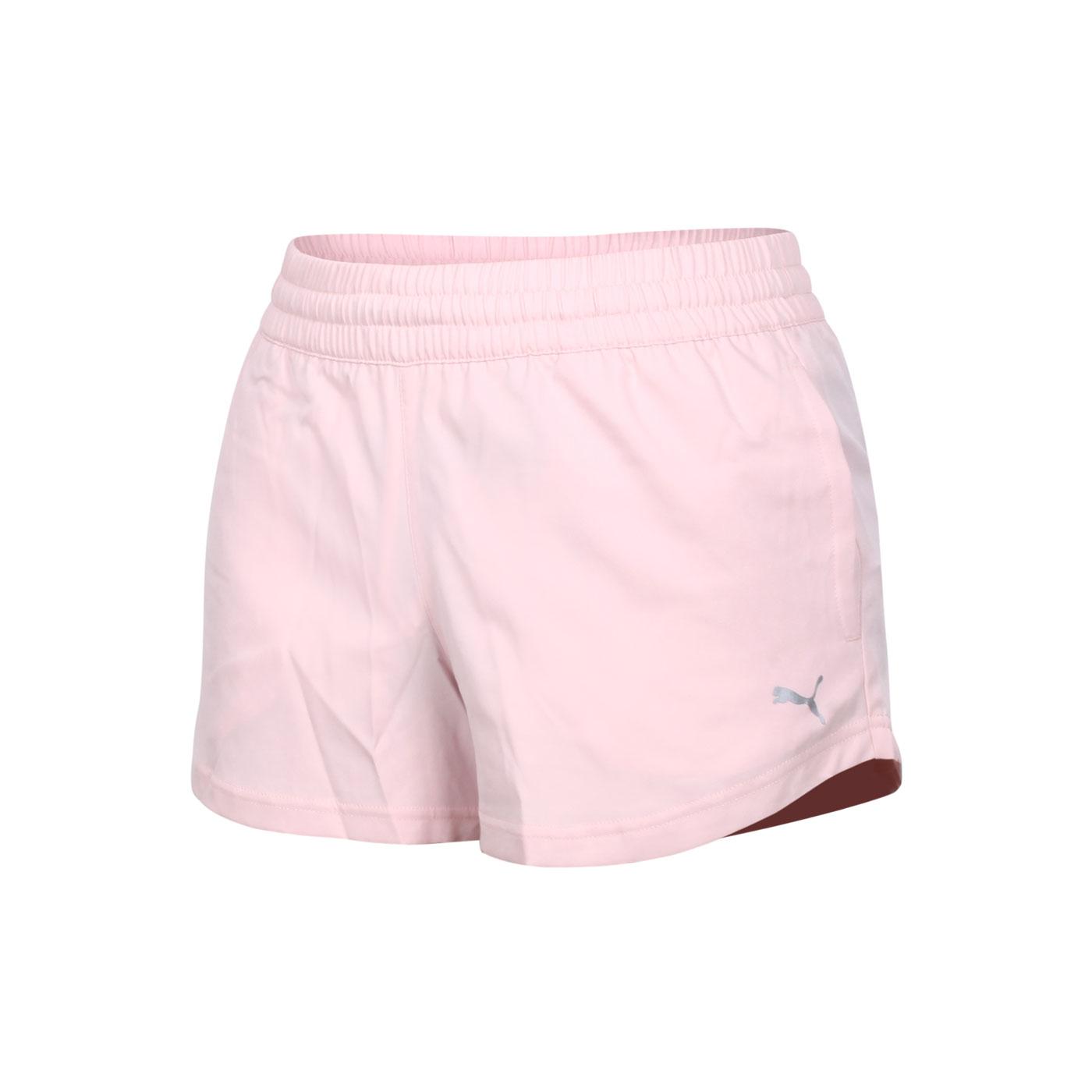 PUMA 女款3吋短風褲 52048836 - 粉紅銀