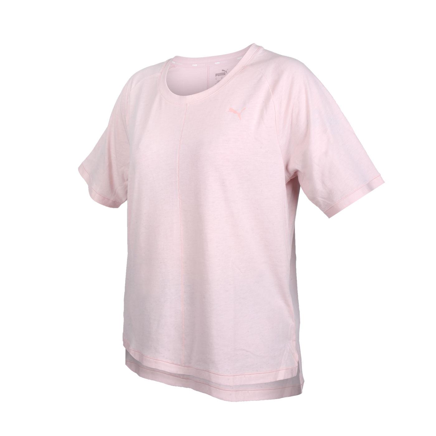 PUMA 女款瑜珈系列Studio寬鬆短袖T恤 52109336 - 粉紅