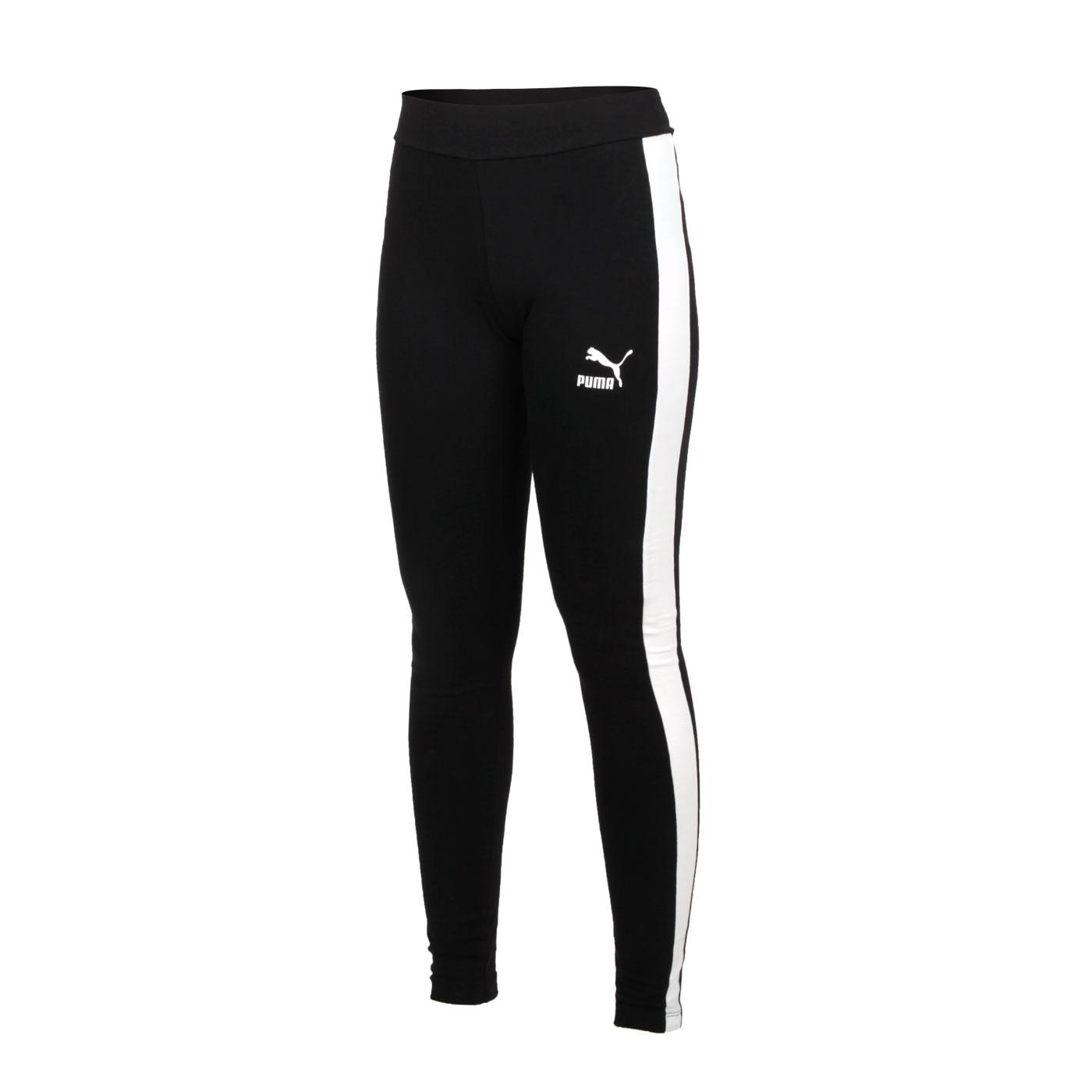 PUMA 女款流行系列T7緊身長褲 53008001 - 黑白