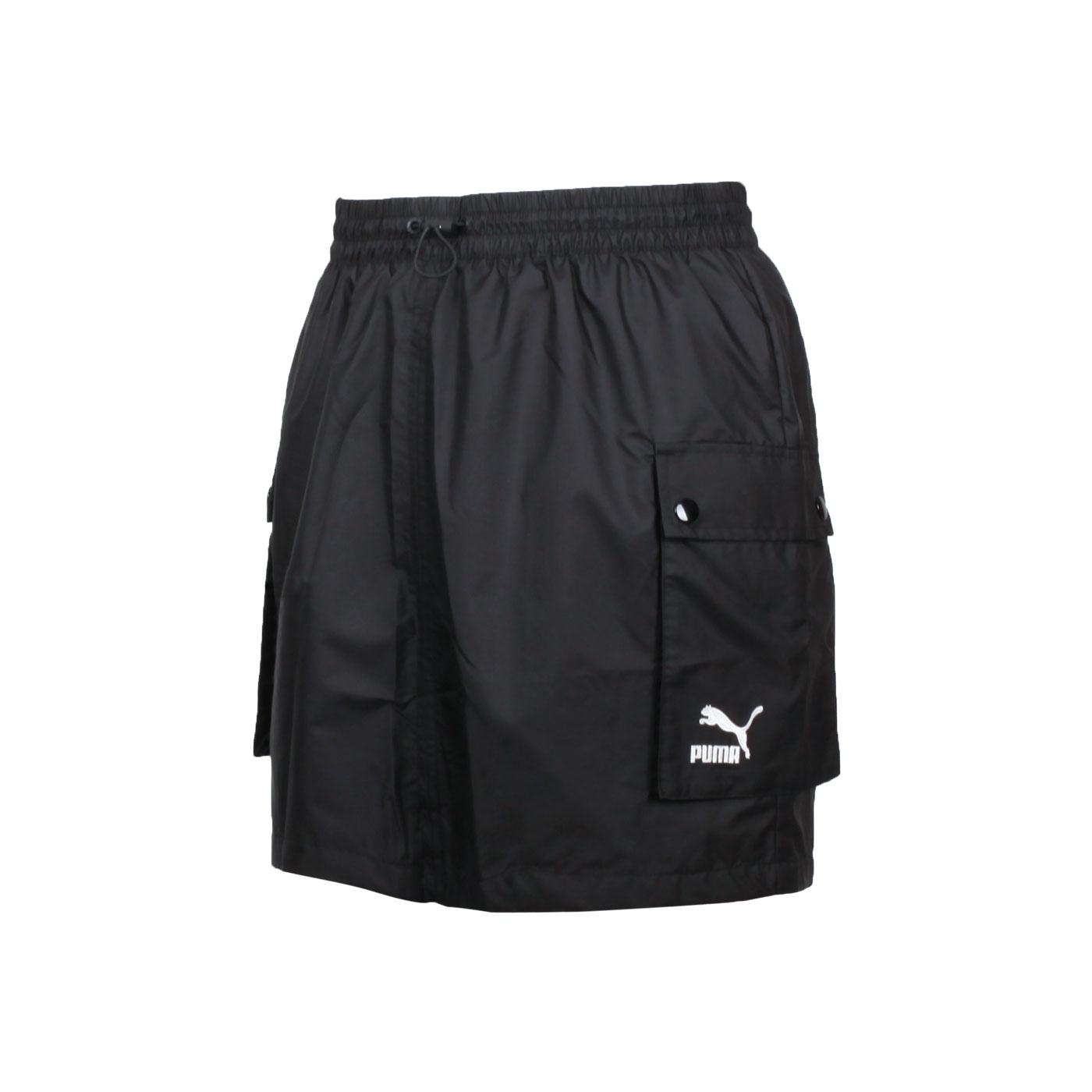 PUMA 女款Classics工業風短風裙 53022601 - 黑白