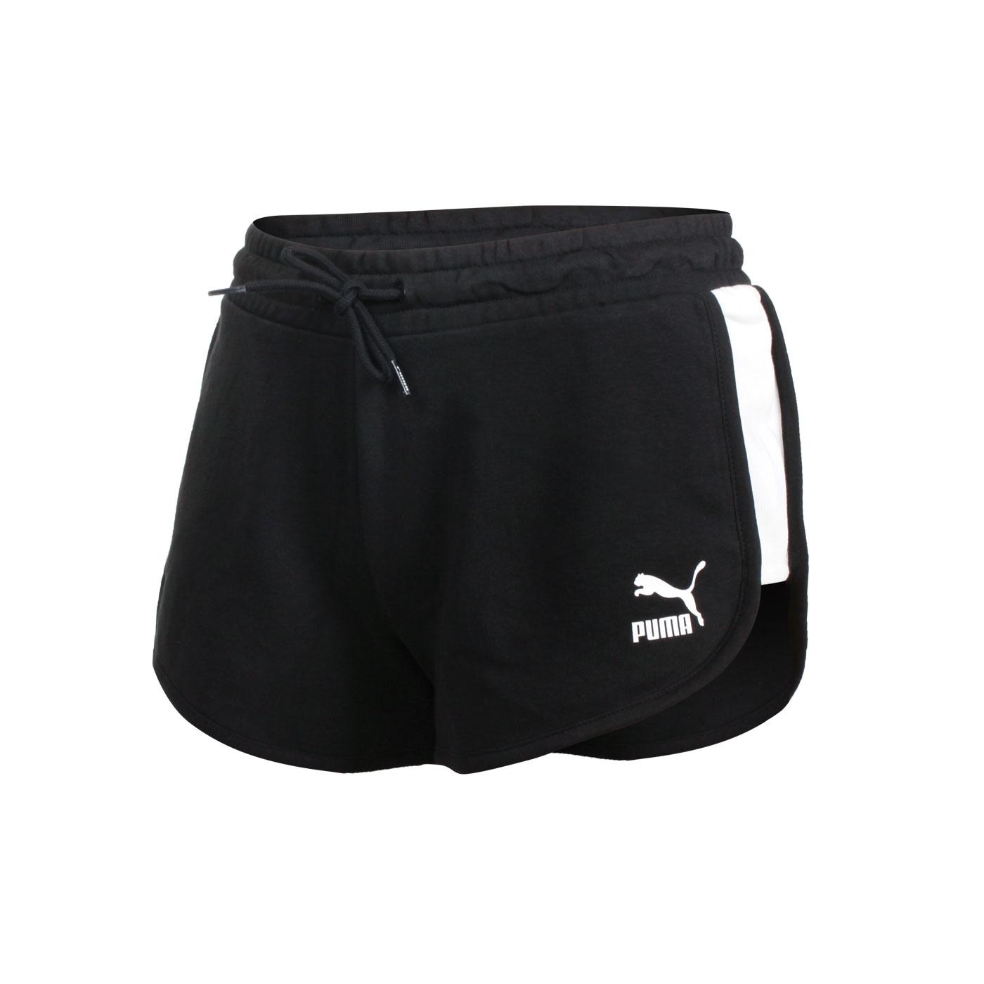 PUMA 女款流行系列T7短褲 53023701 - 黑白