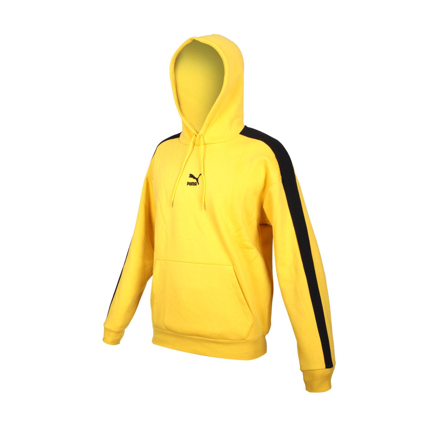 PUMA 男款寬版T7長厚連帽T恤 53027299 - 黃黑