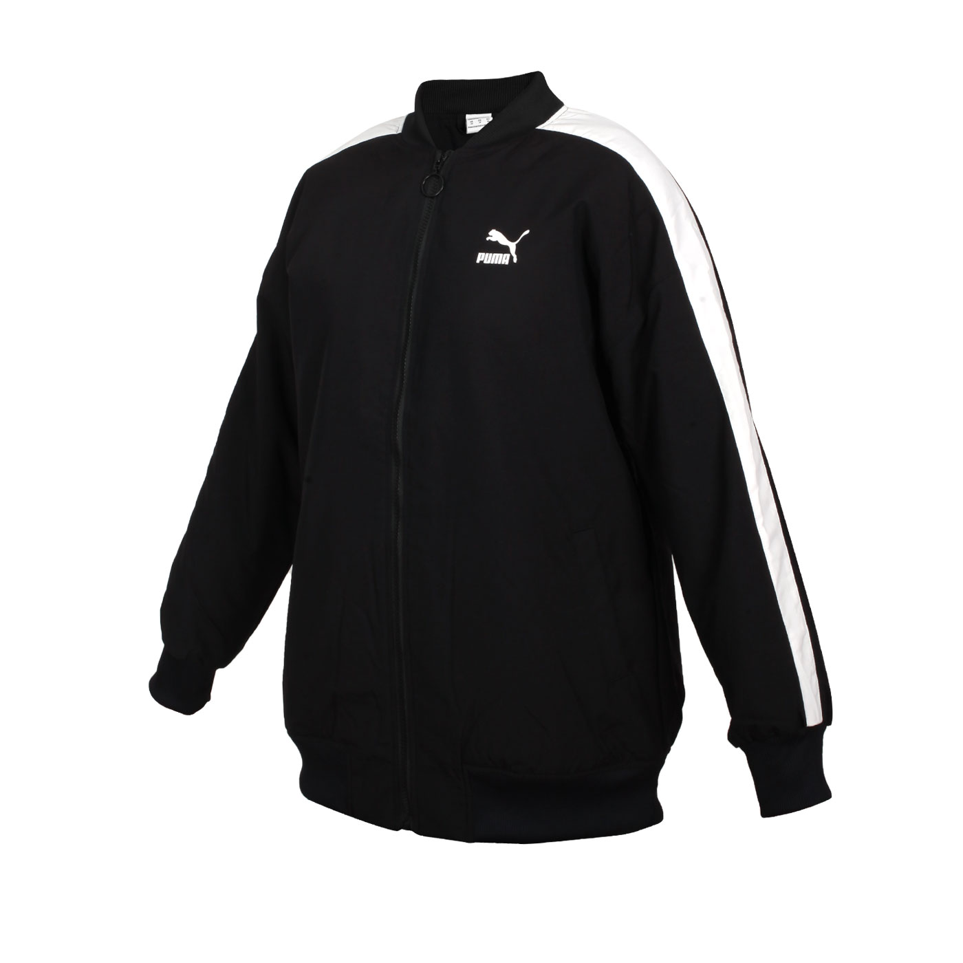 PUMA 女款立領棒球外套 53027501 - 黑白