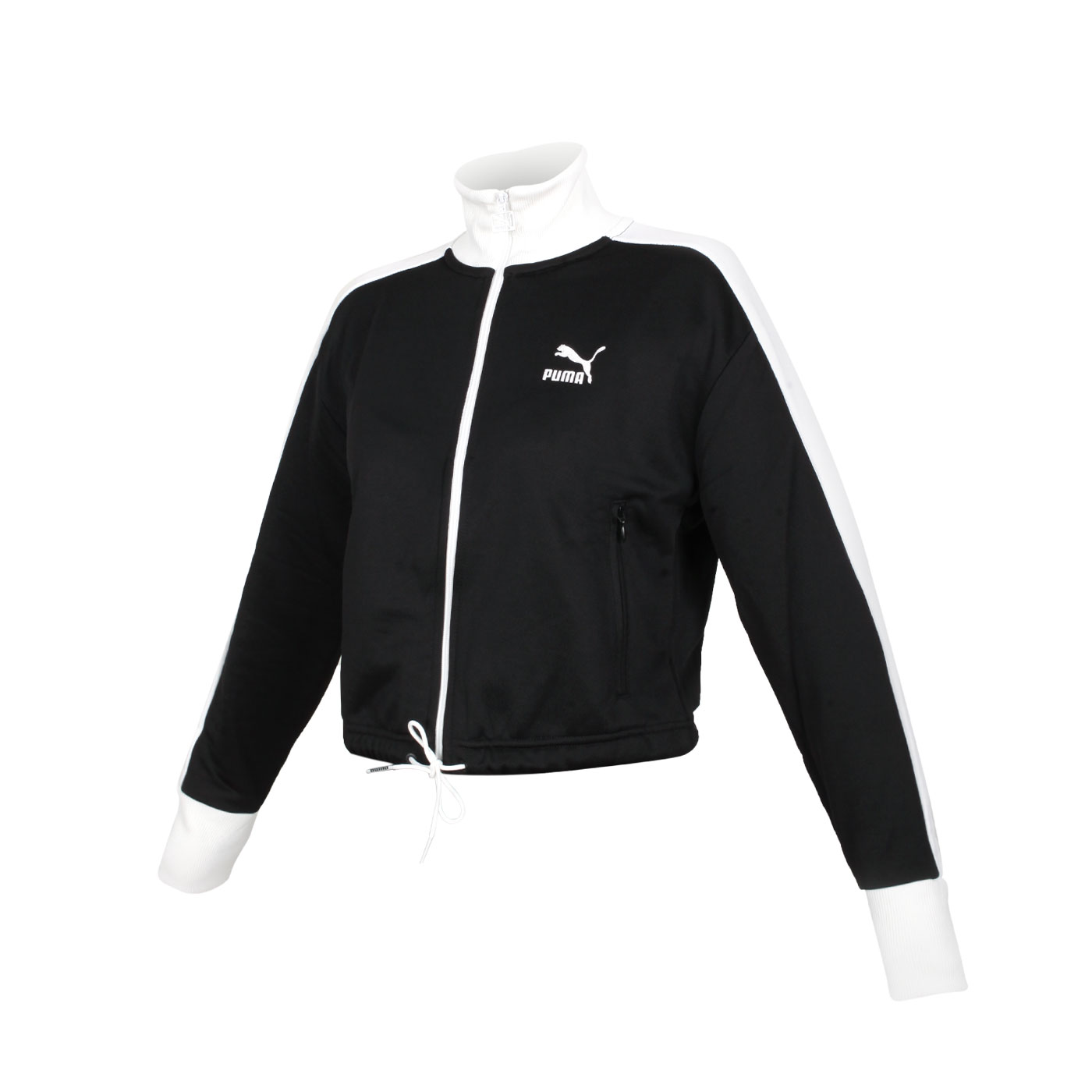PUMA 女款流行系列T7短版立領外套 53162301 - 黑白