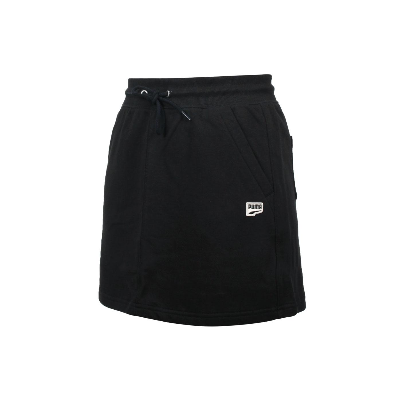 PUMA 女款流行系列Downtown短裙 53169401 - 黑米黃