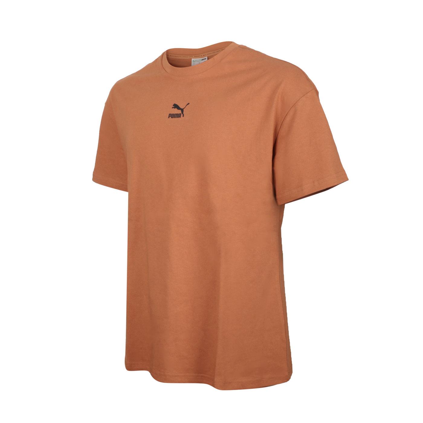 PUMA 男款流行系列Classics寬鬆短袖T恤 53213517 - 磚紅黑