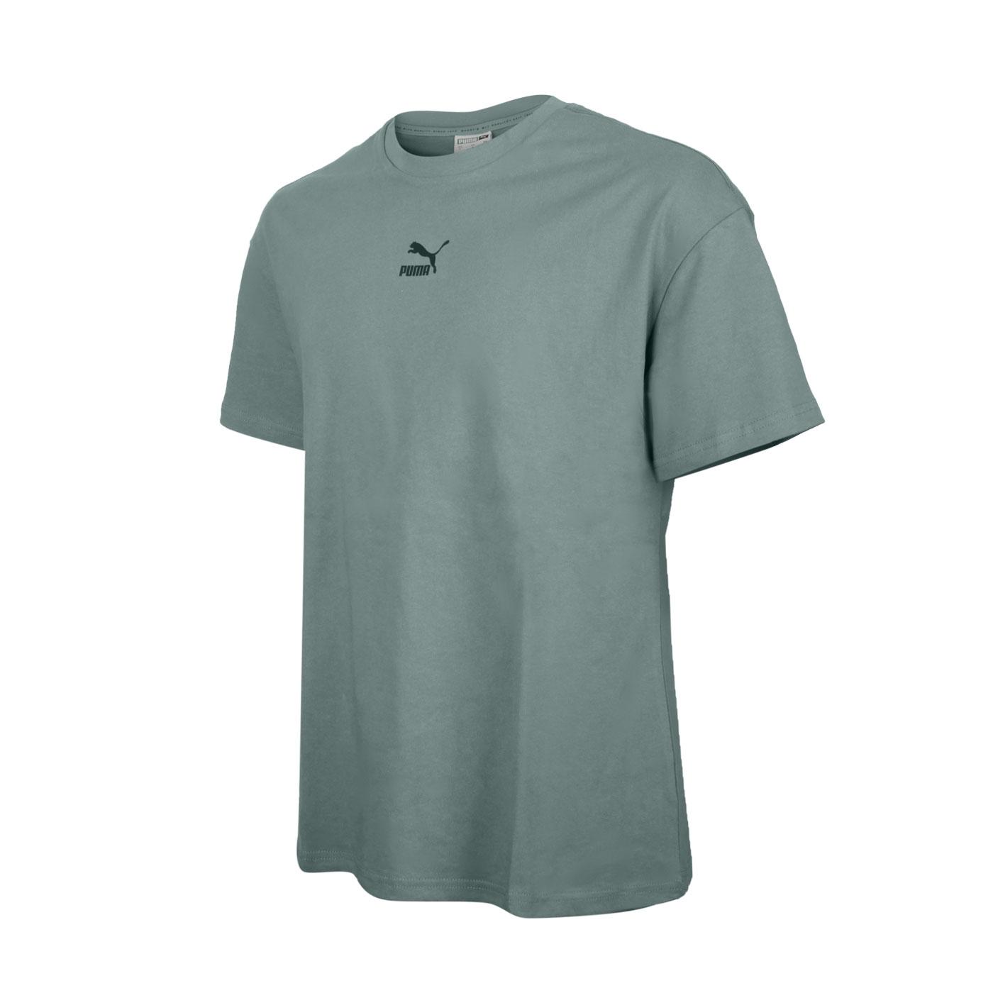 PUMA 男款流行系列Classics寬鬆短袖T恤 53213568 - 綠黑