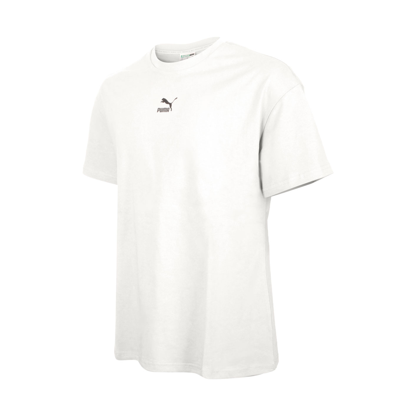 PUMA 男款流行系列Classics寬鬆短袖T恤 53213573 - 米白黑