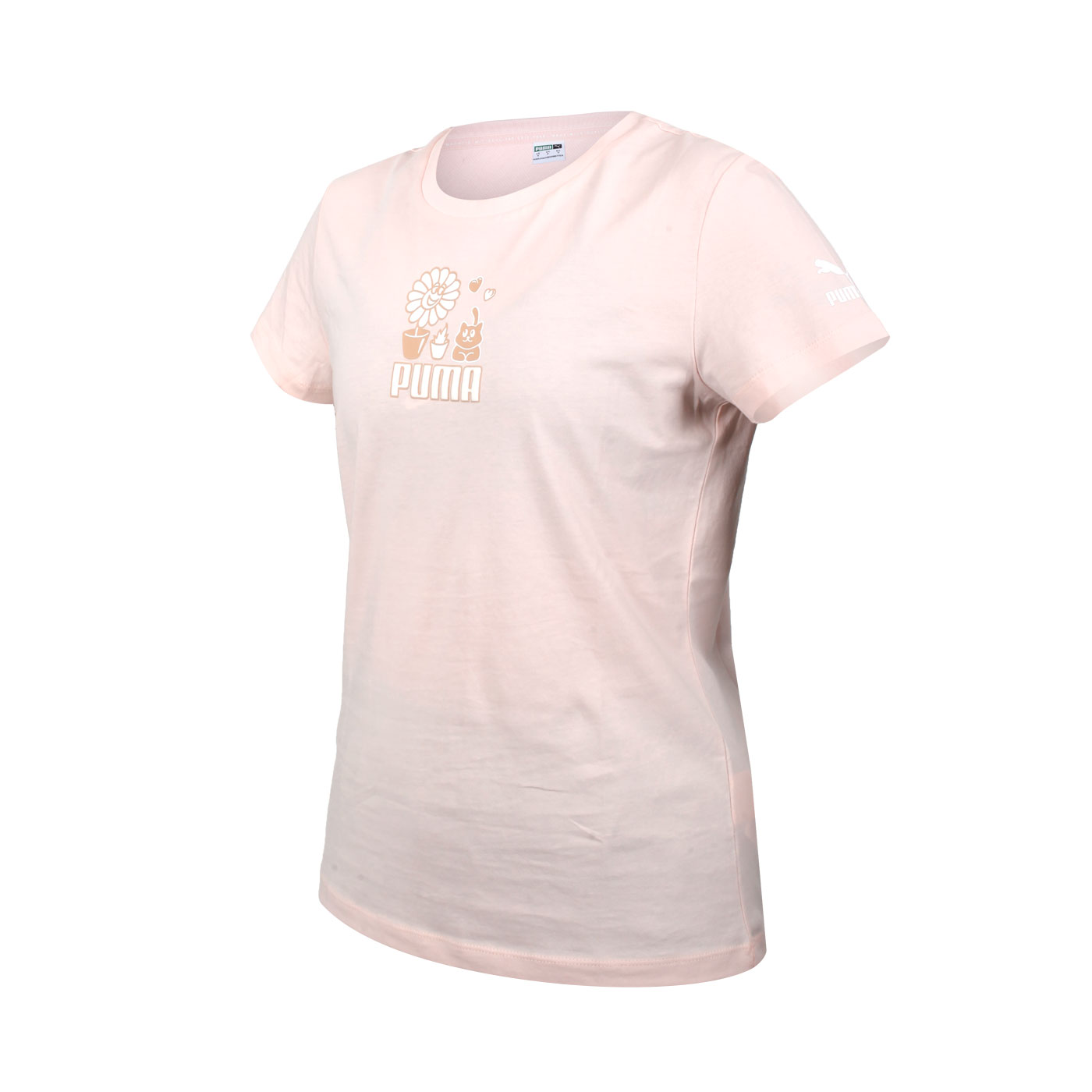 PUMA 女款短袖T恤 53255227 - 粉橘白