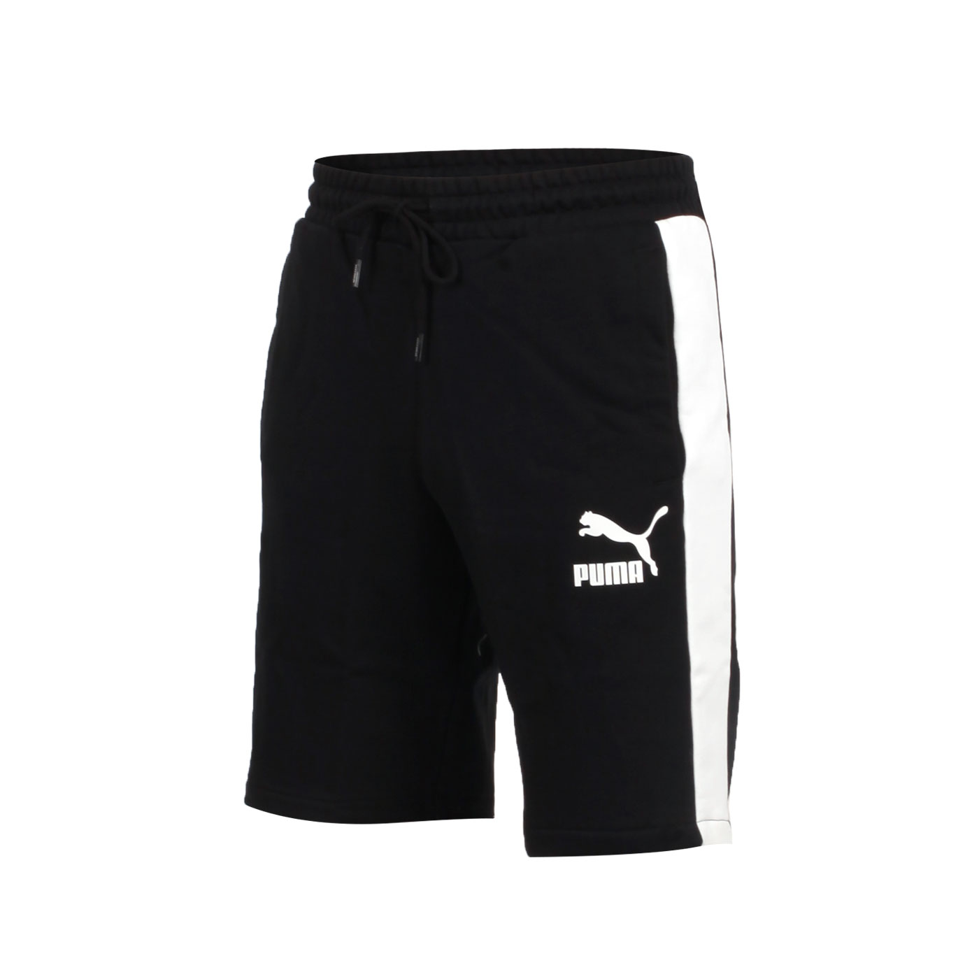 PUMA 男款流行系列T7棉質10吋短褲 58155901 - 黑白