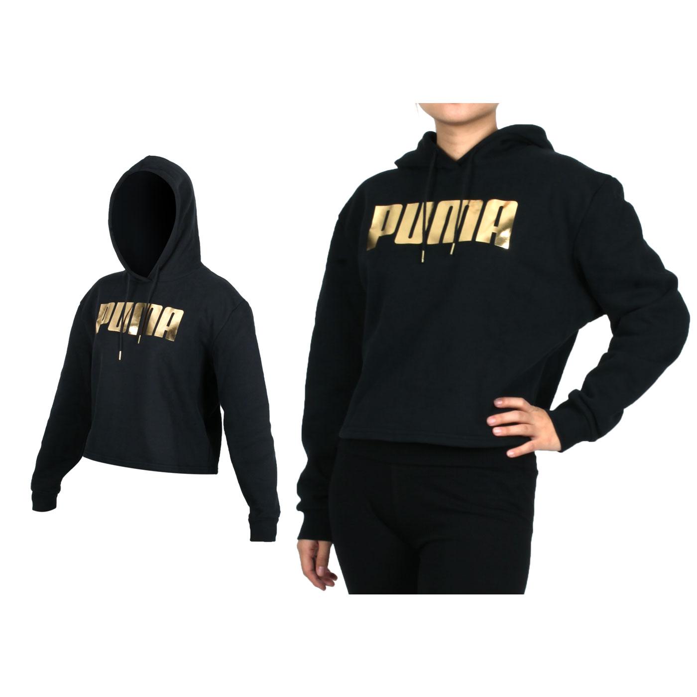 PUMA 女款基本系列Holiday長厚連帽T恤 58185701 - 黑金