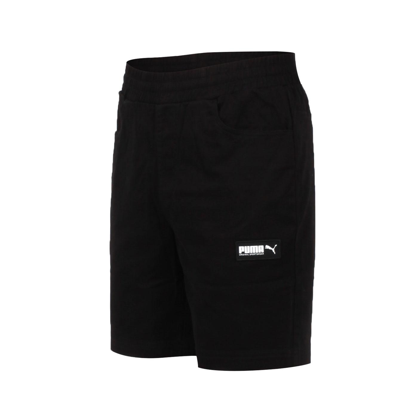 PUMA 男款基本系列8吋短褲 58268101 - 黑白